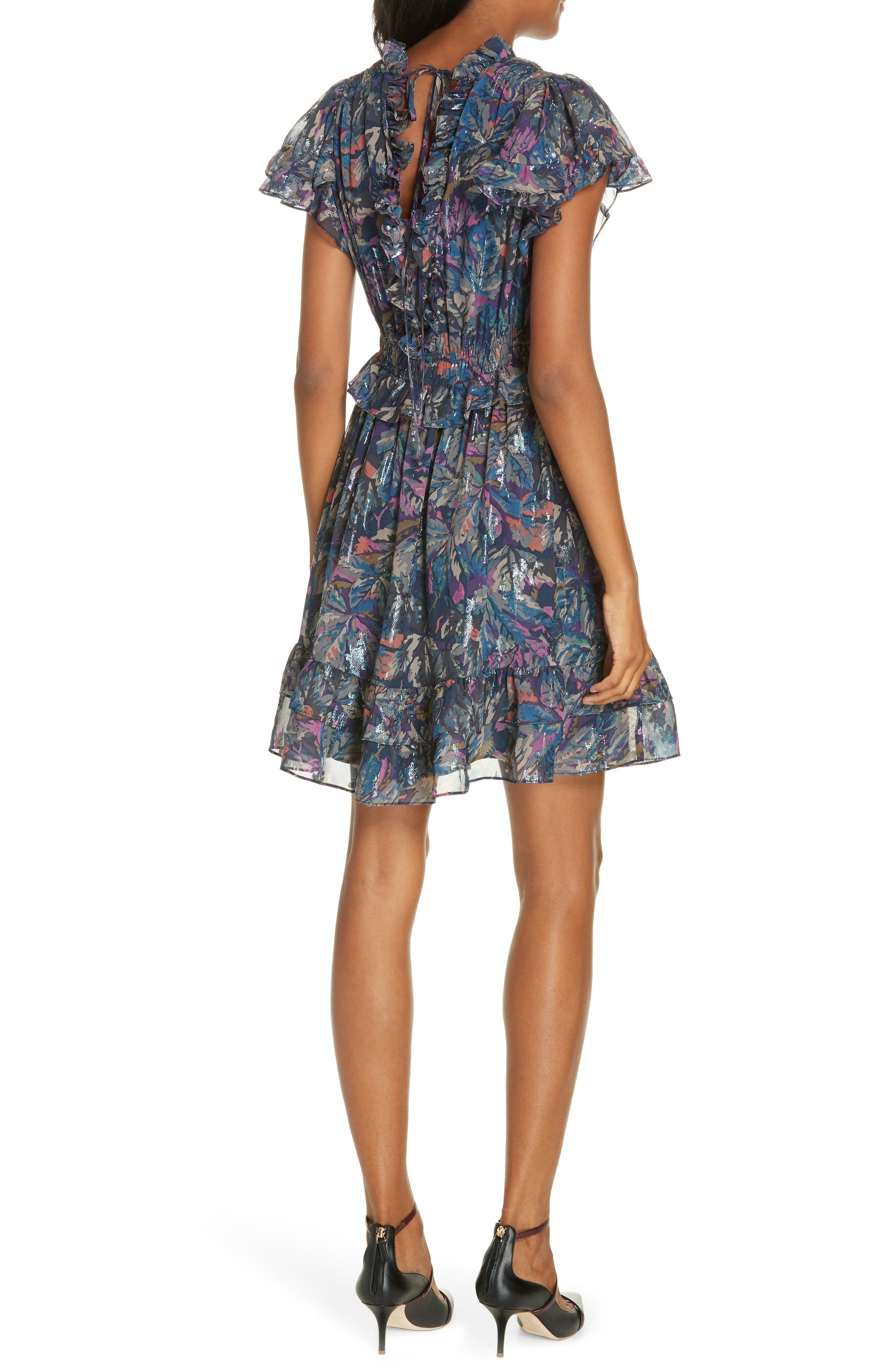 Giverney Fleur Dress,                             Alternate thumbnail 2, color,                             AMETHYST COMBO