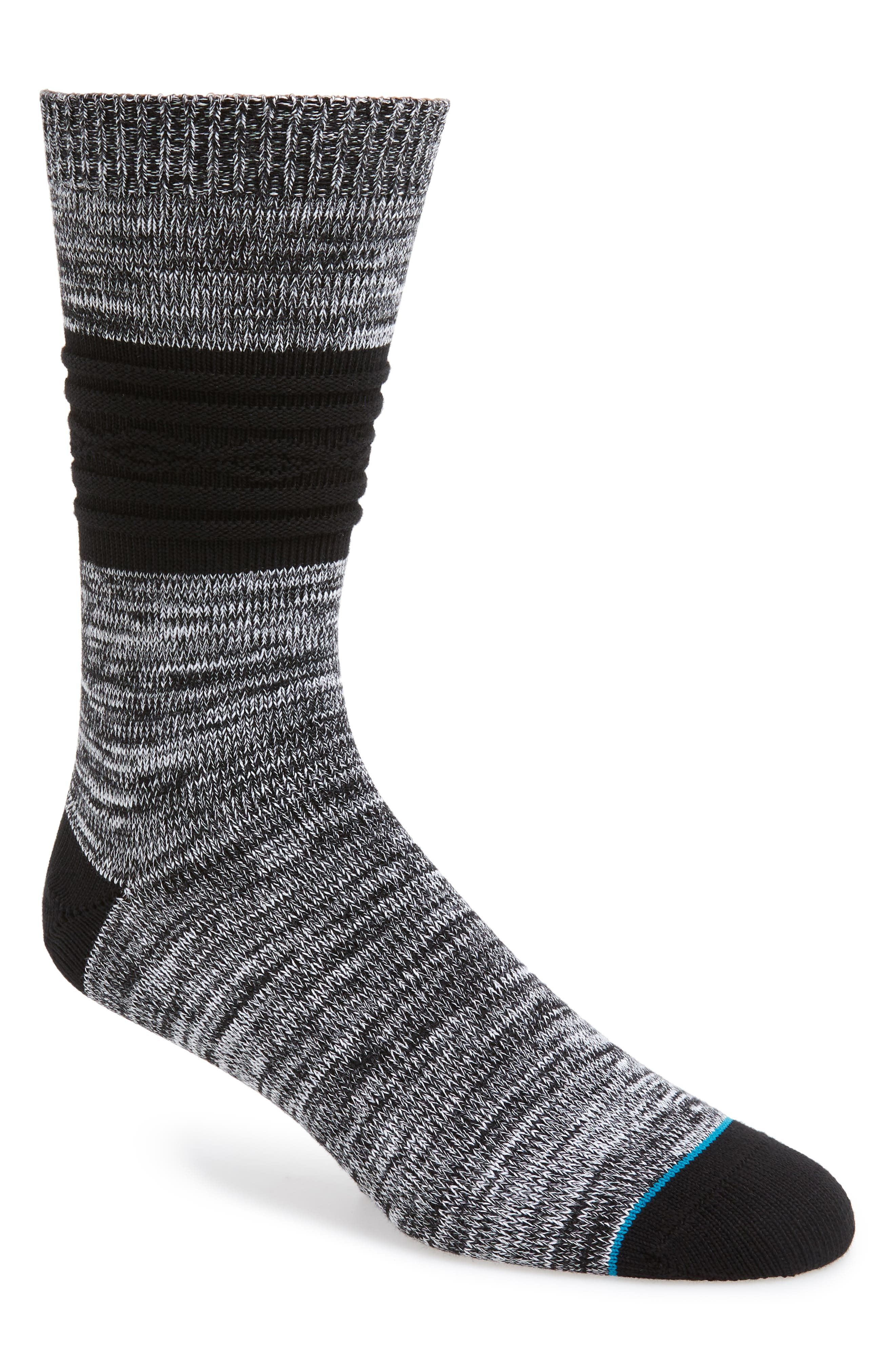 Gozzi Stripe Socks,                         Main,                         color, BLACK
