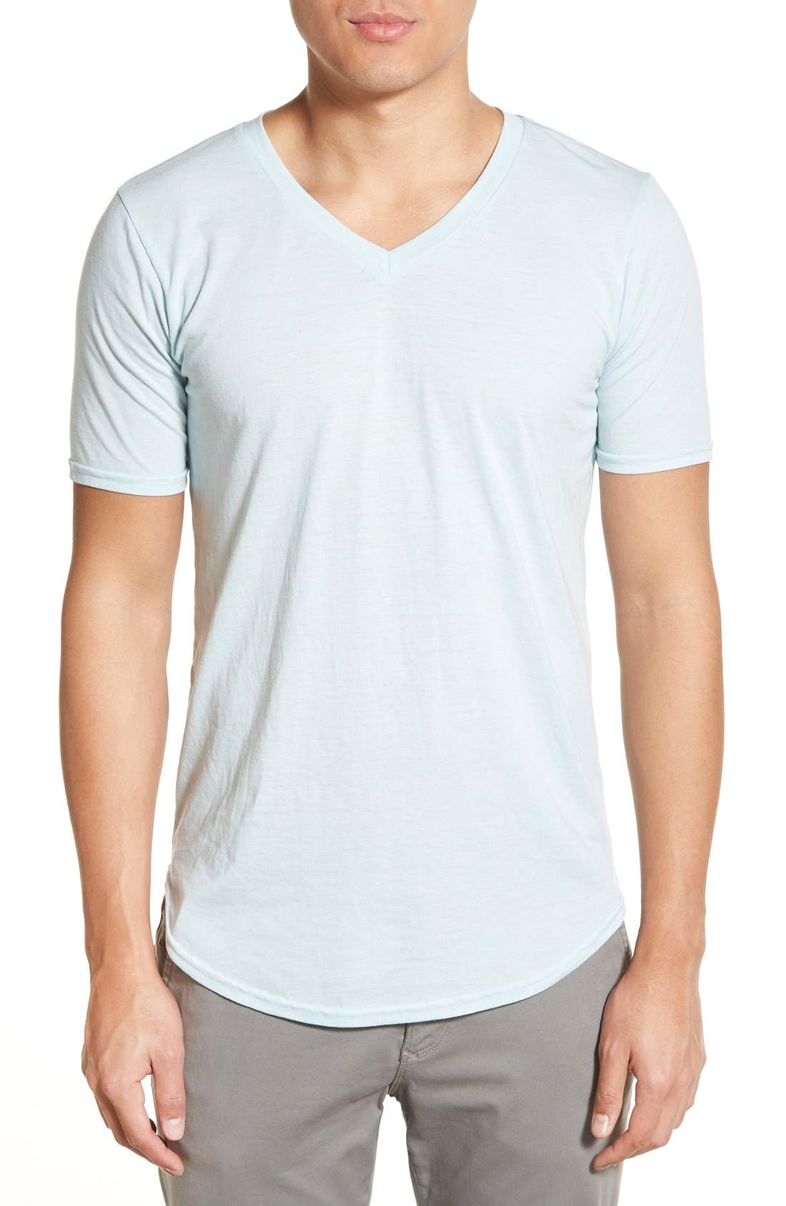 Scallop Triblend V-Neck T-Shirt,                             Main thumbnail 20, color,