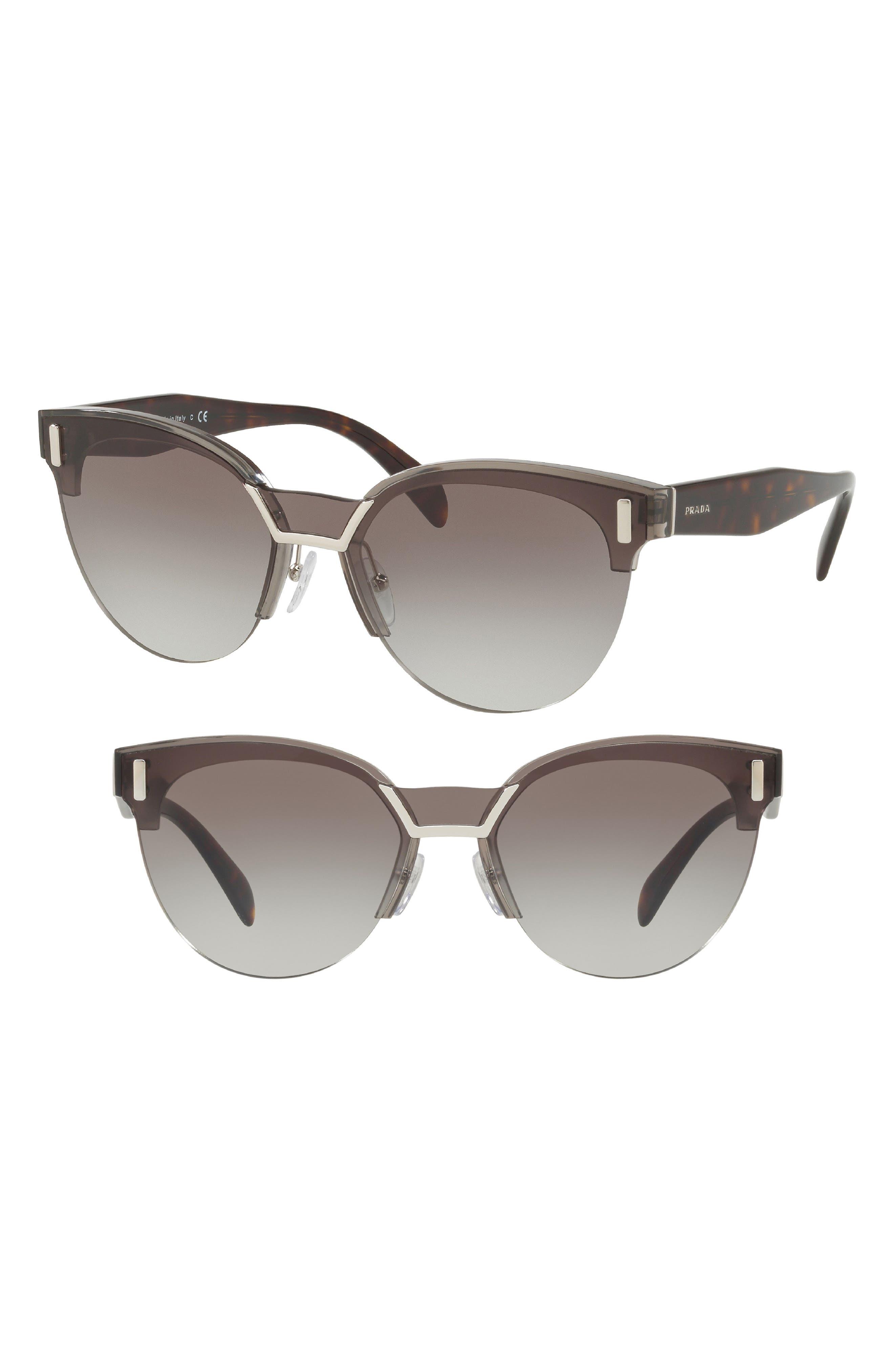 50mm Semi Rimless Gradient Sunglasses,                             Alternate thumbnail 2, color,