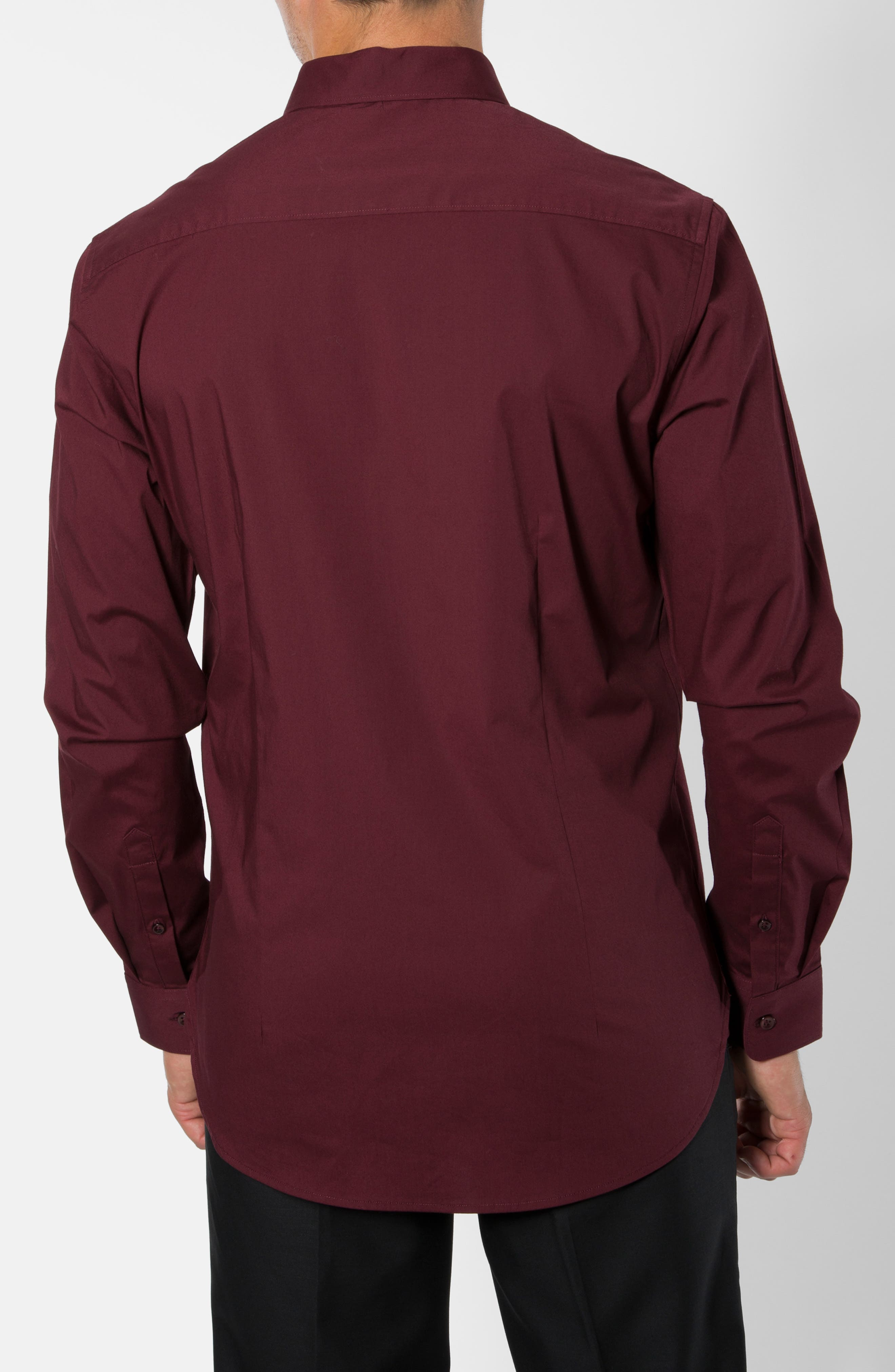 'Peace Train' Trim Fit Woven Shirt,                             Alternate thumbnail 10, color,