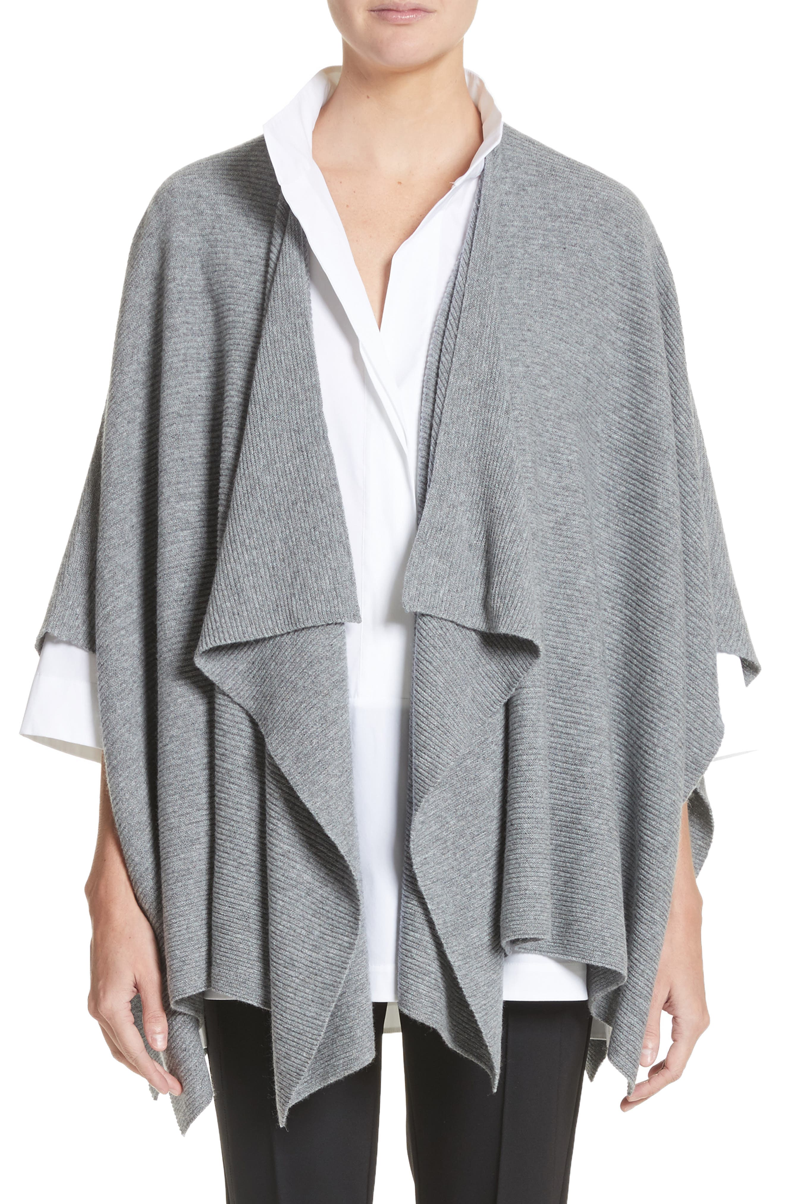 Cashmere Wrap,                         Main,                         color, NICKEL MELANGE