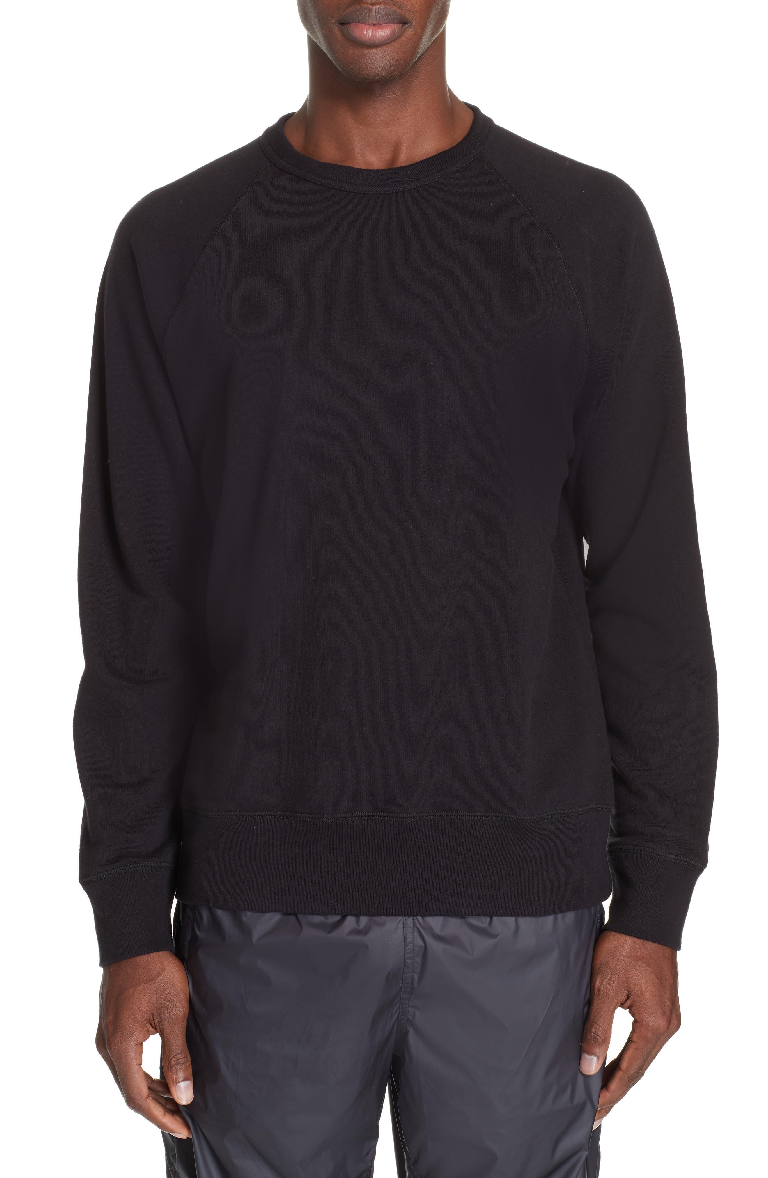 Crew Sweatshirt,                             Main thumbnail 1, color,                             BLACK LOOP SWEAT