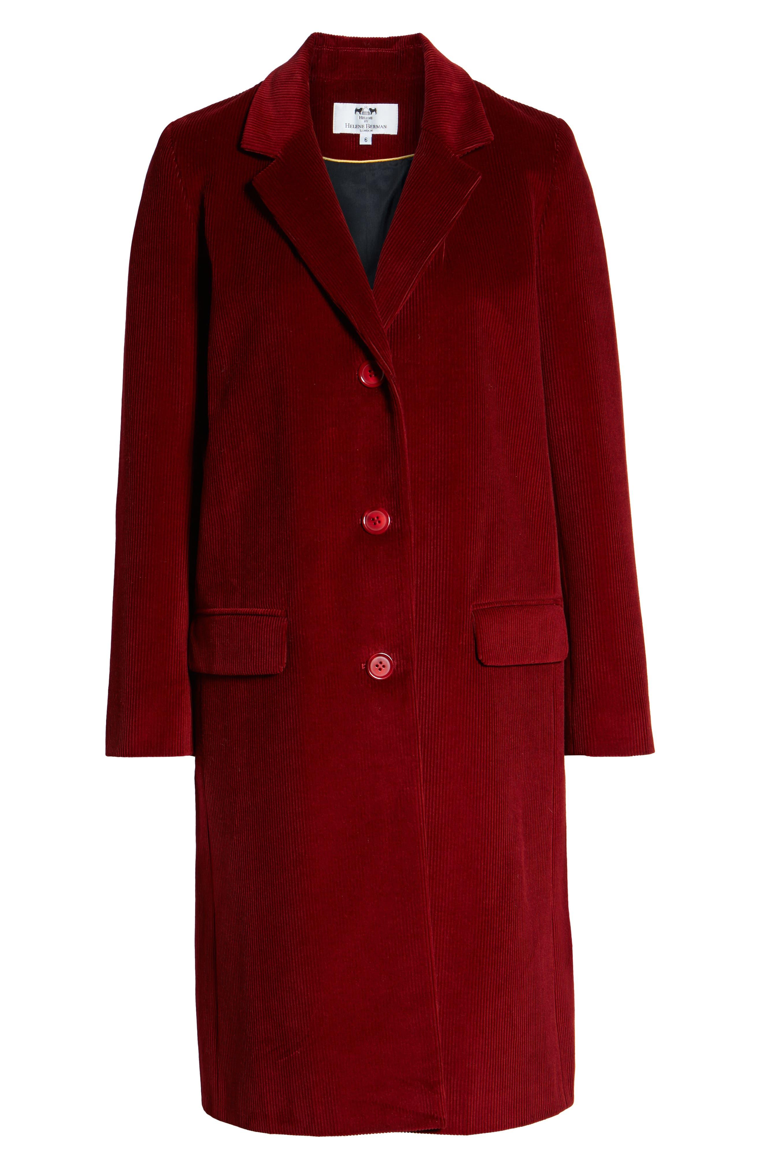 Corduroy College Coat,                             Alternate thumbnail 6, color,                             800