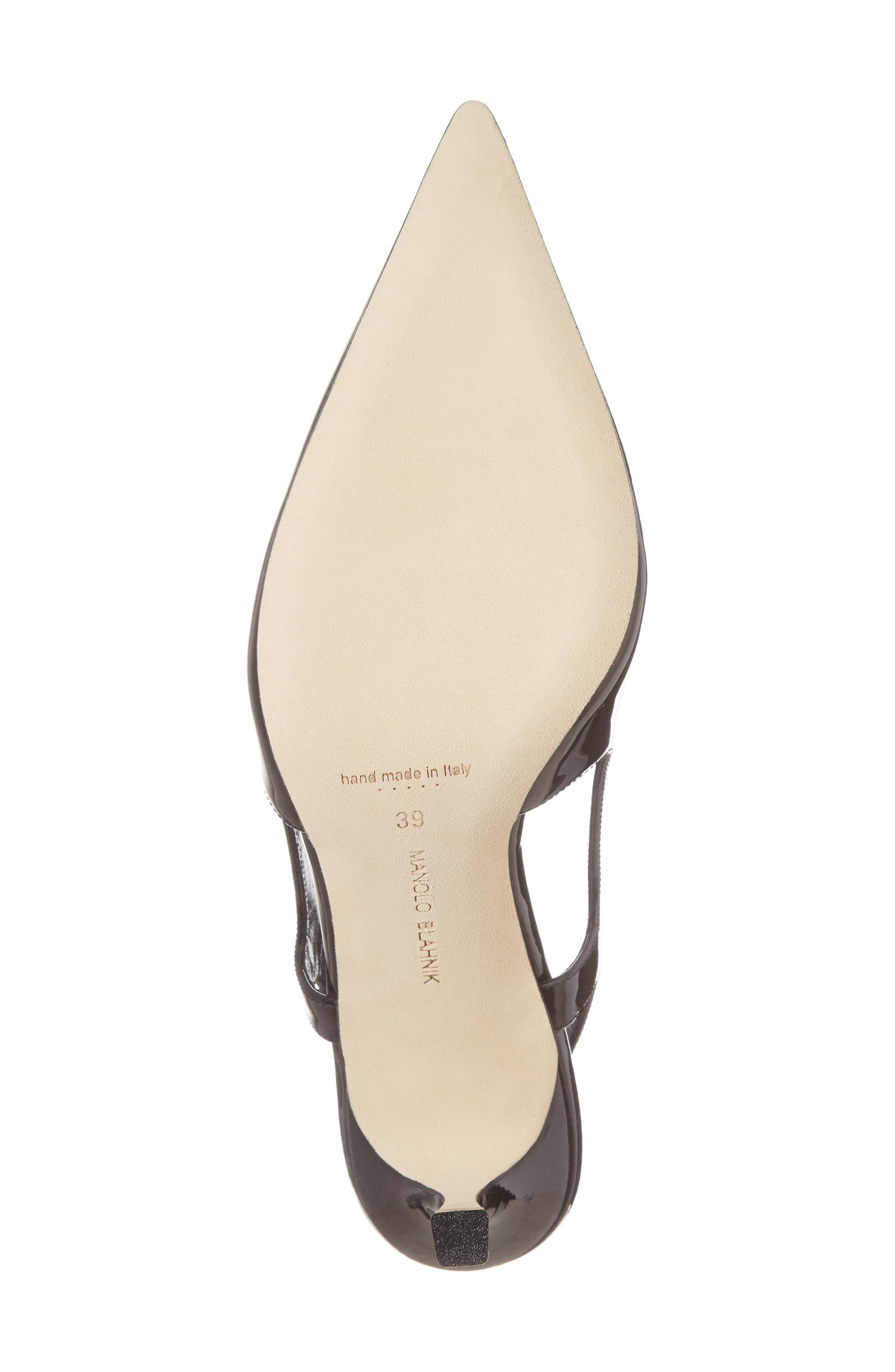 Bretto Slingback Pointy Toe Pump,                             Alternate thumbnail 6, color,                             001