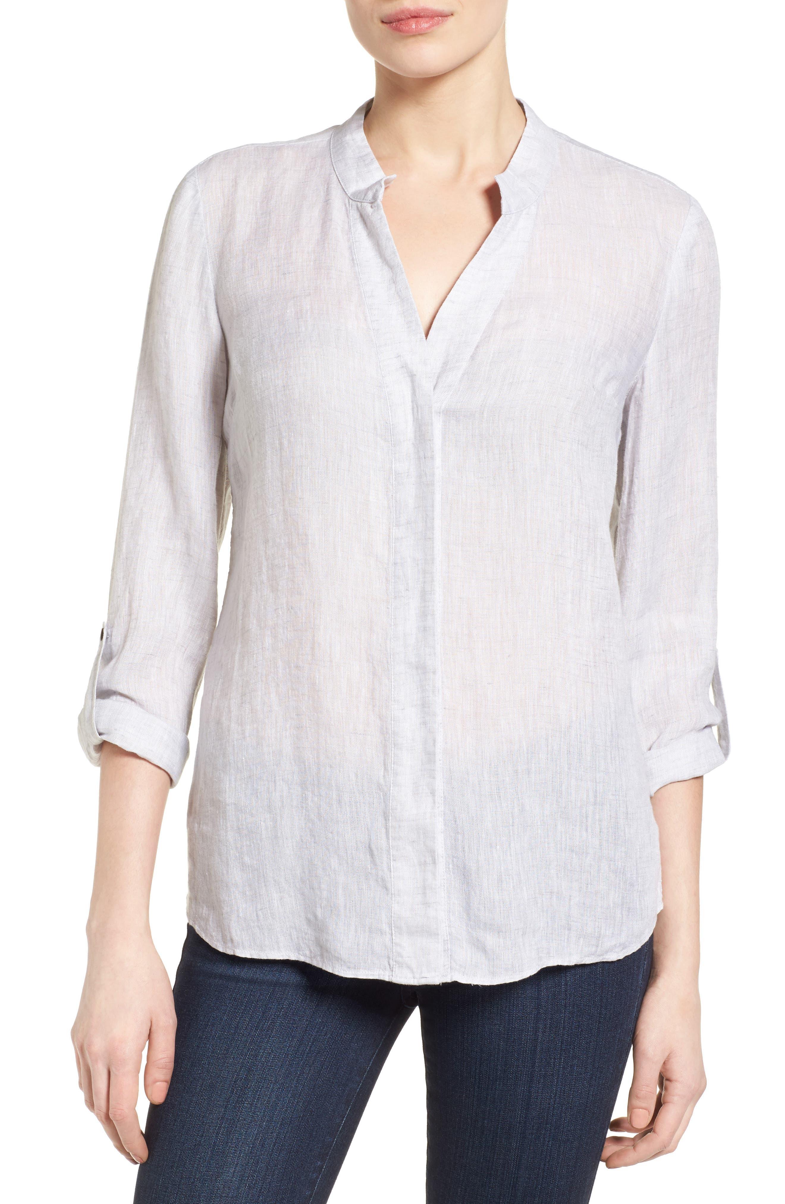 Drifty Linen Shirt,                             Main thumbnail 1, color,                             030