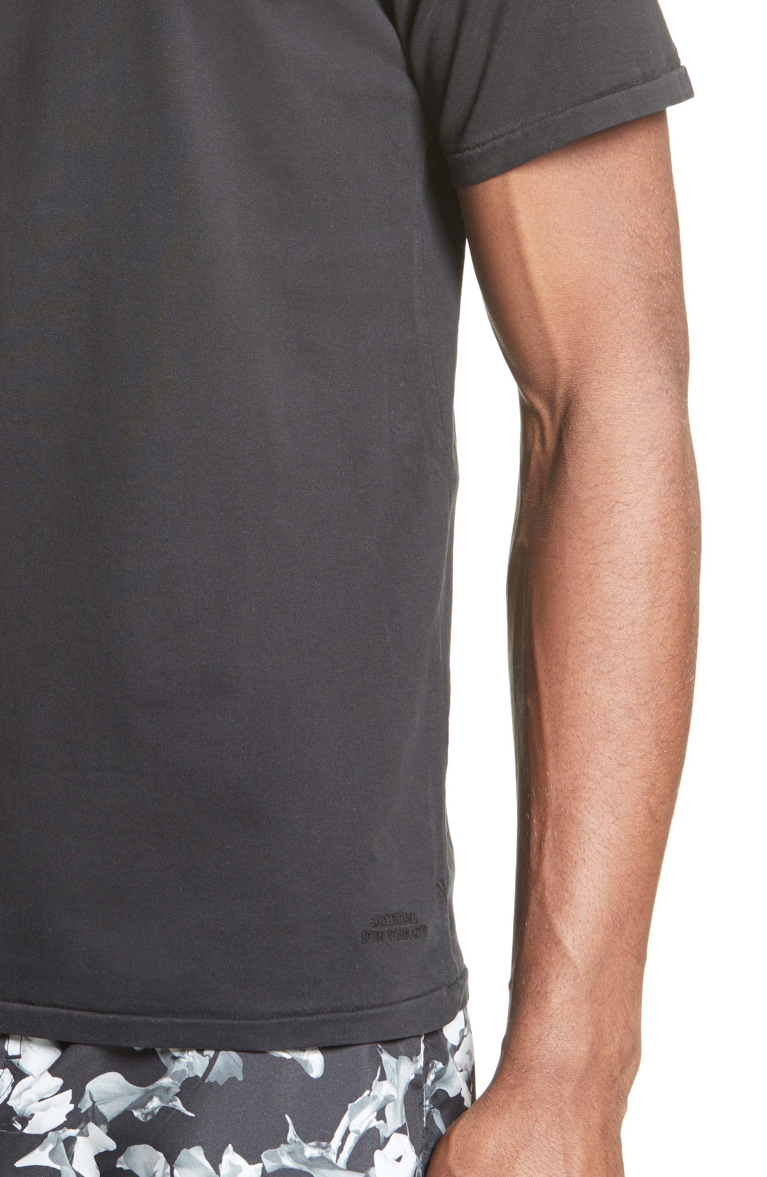 Brandon Pima Cotton T-Shirt,                             Alternate thumbnail 4, color,                             001