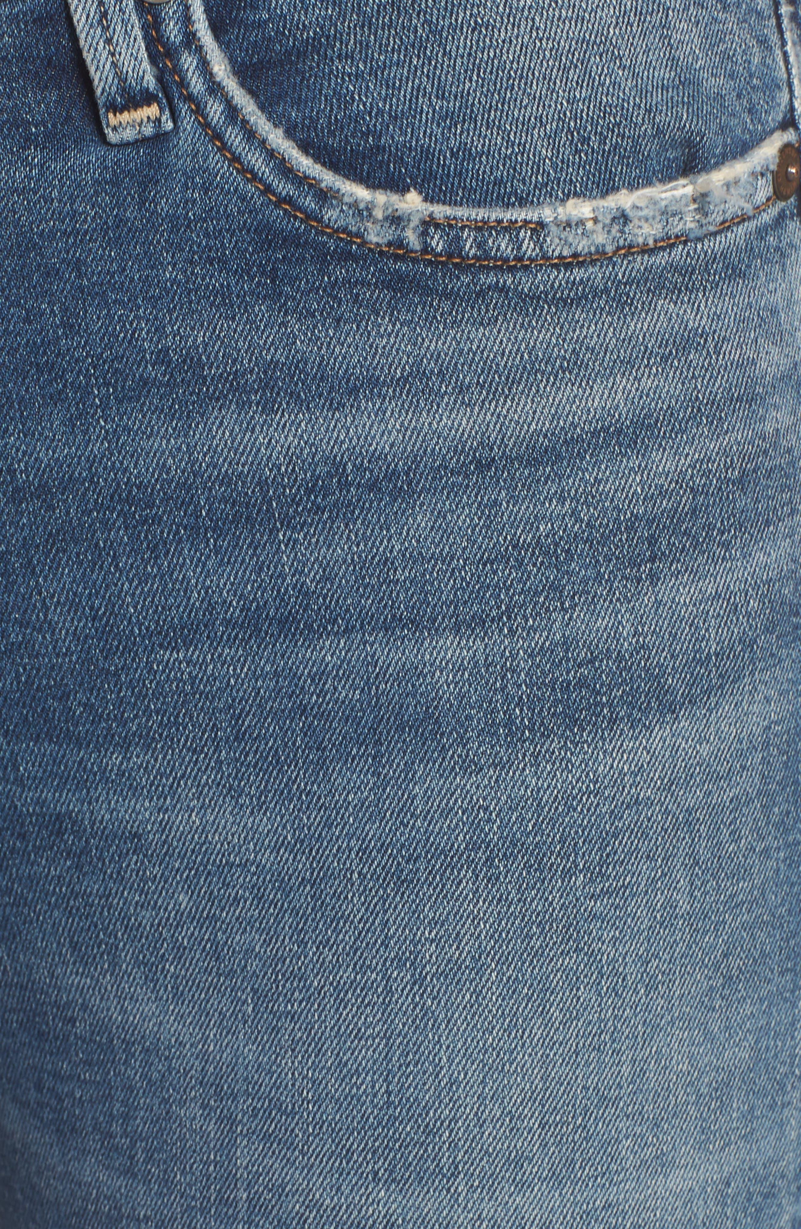 Rocket High Waist Crop Skinny Jeans,                             Alternate thumbnail 6, color,                             427