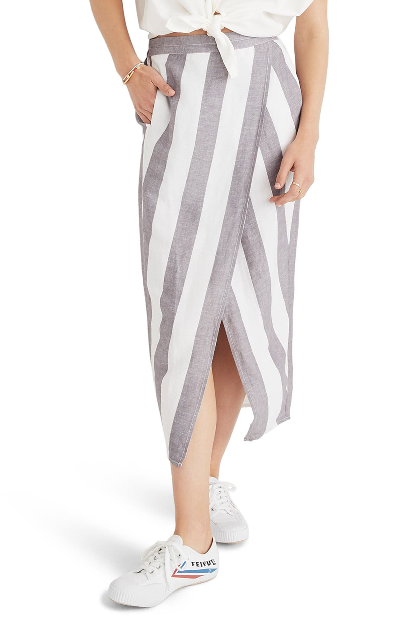 Stripe Overlay Skirt,                             Main thumbnail 1, color,                             020