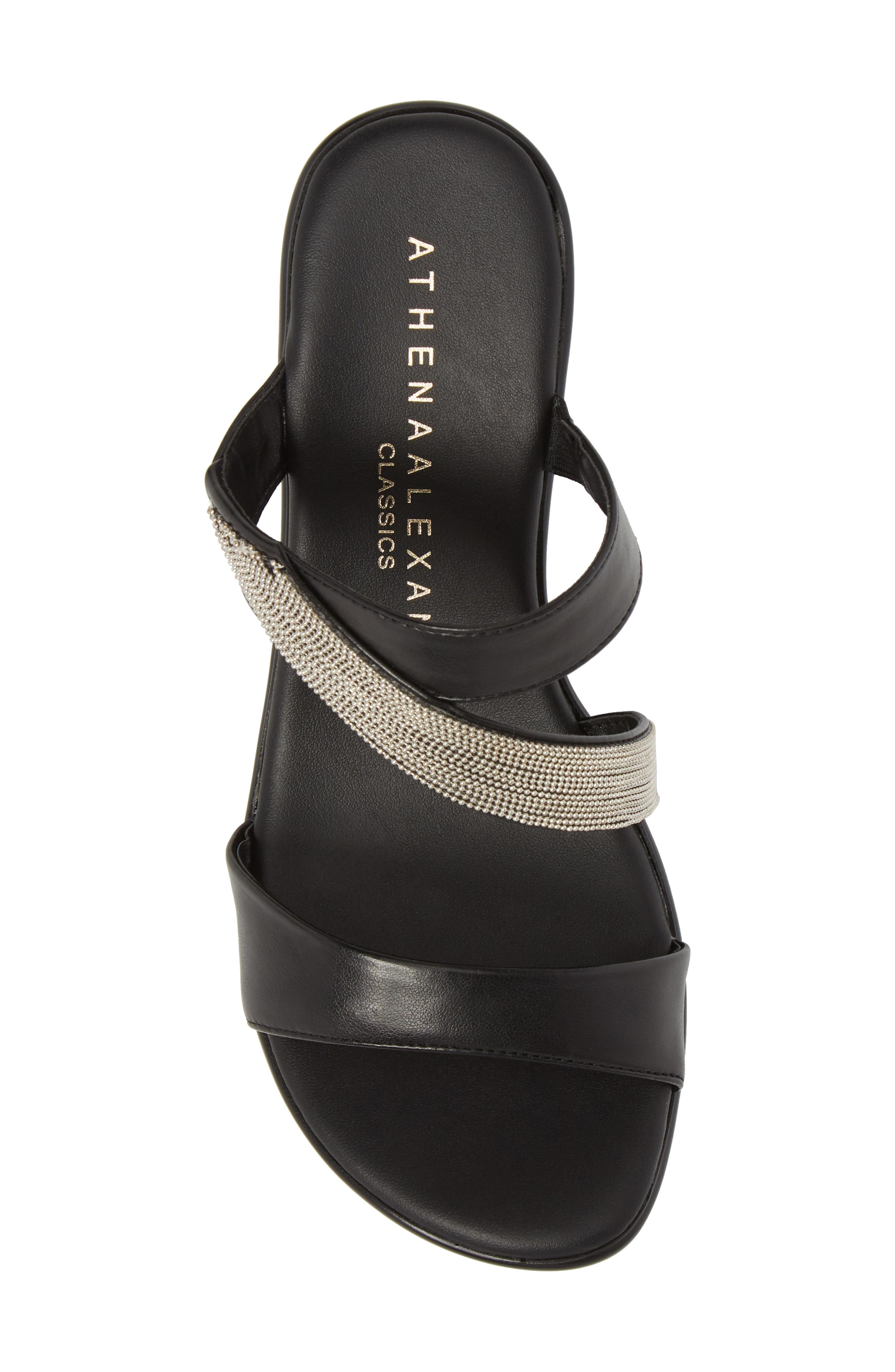ATHENA ALEXANDER,                             Peyton Asymmetrical Slide Sandal,                             Alternate thumbnail 5, color,                             001