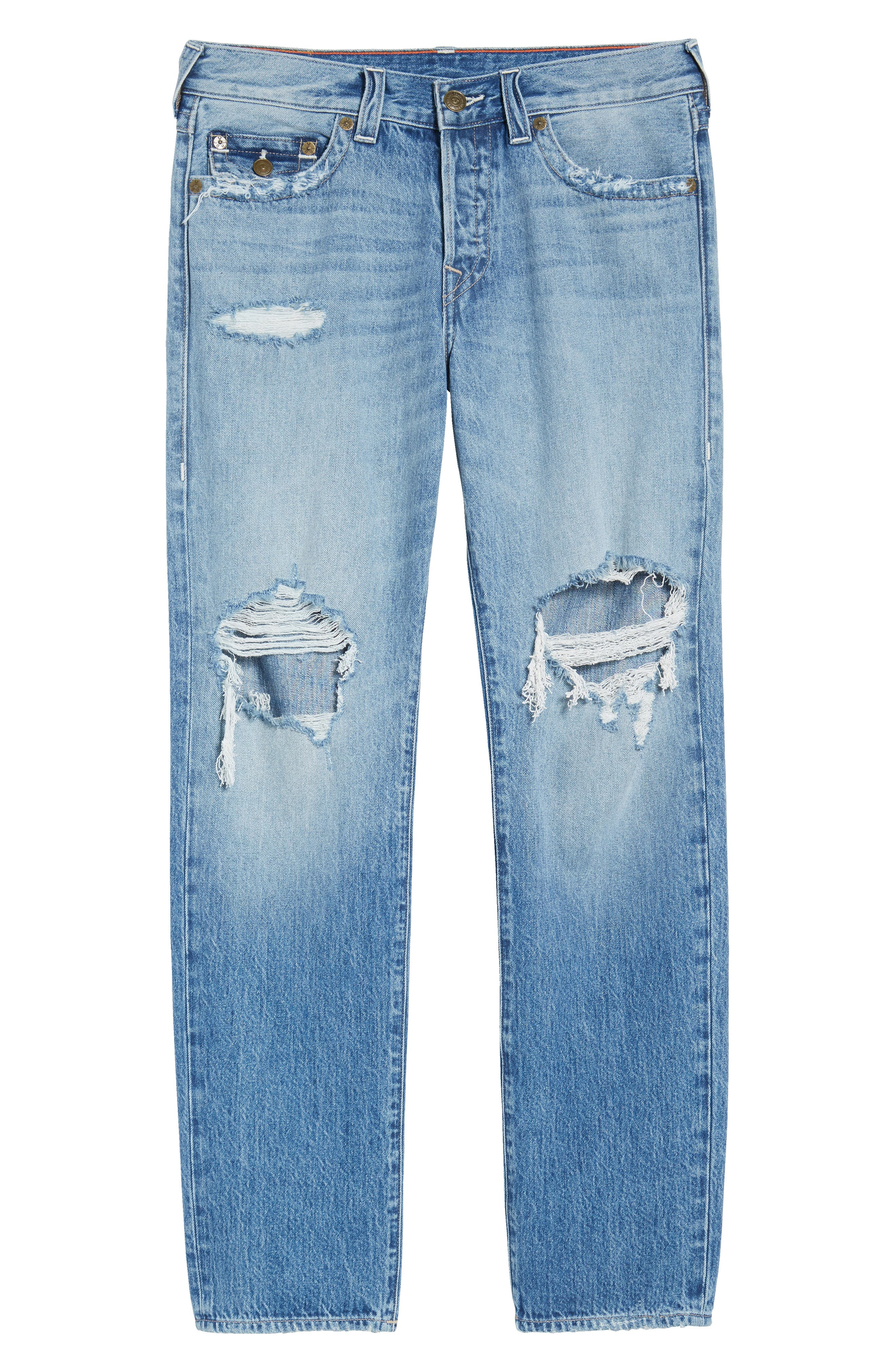 TRUE RELIGION BRAND JEANS,                             Geno Straight Leg Jeans,                             Alternate thumbnail 6, color,                             EQNM DELINGUENT