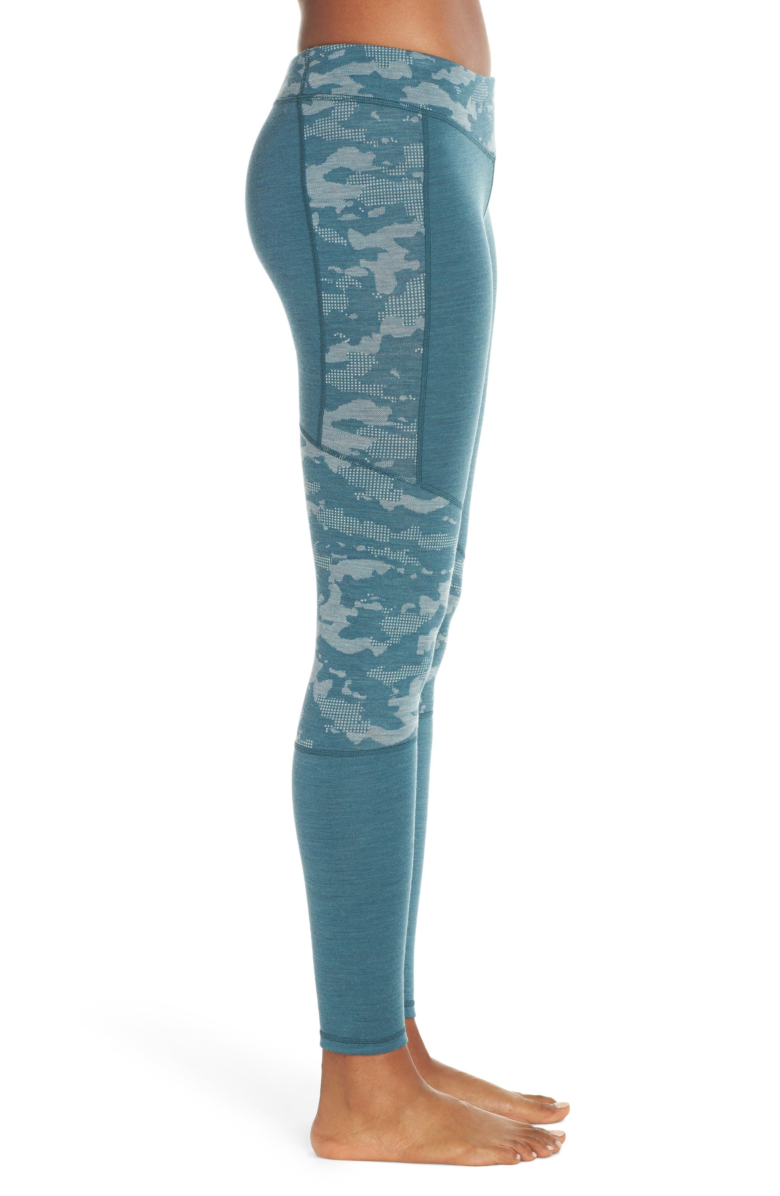Merino 250 Active Leggings,                             Alternate thumbnail 3, color,                             MEDITERRANEAN GREEN