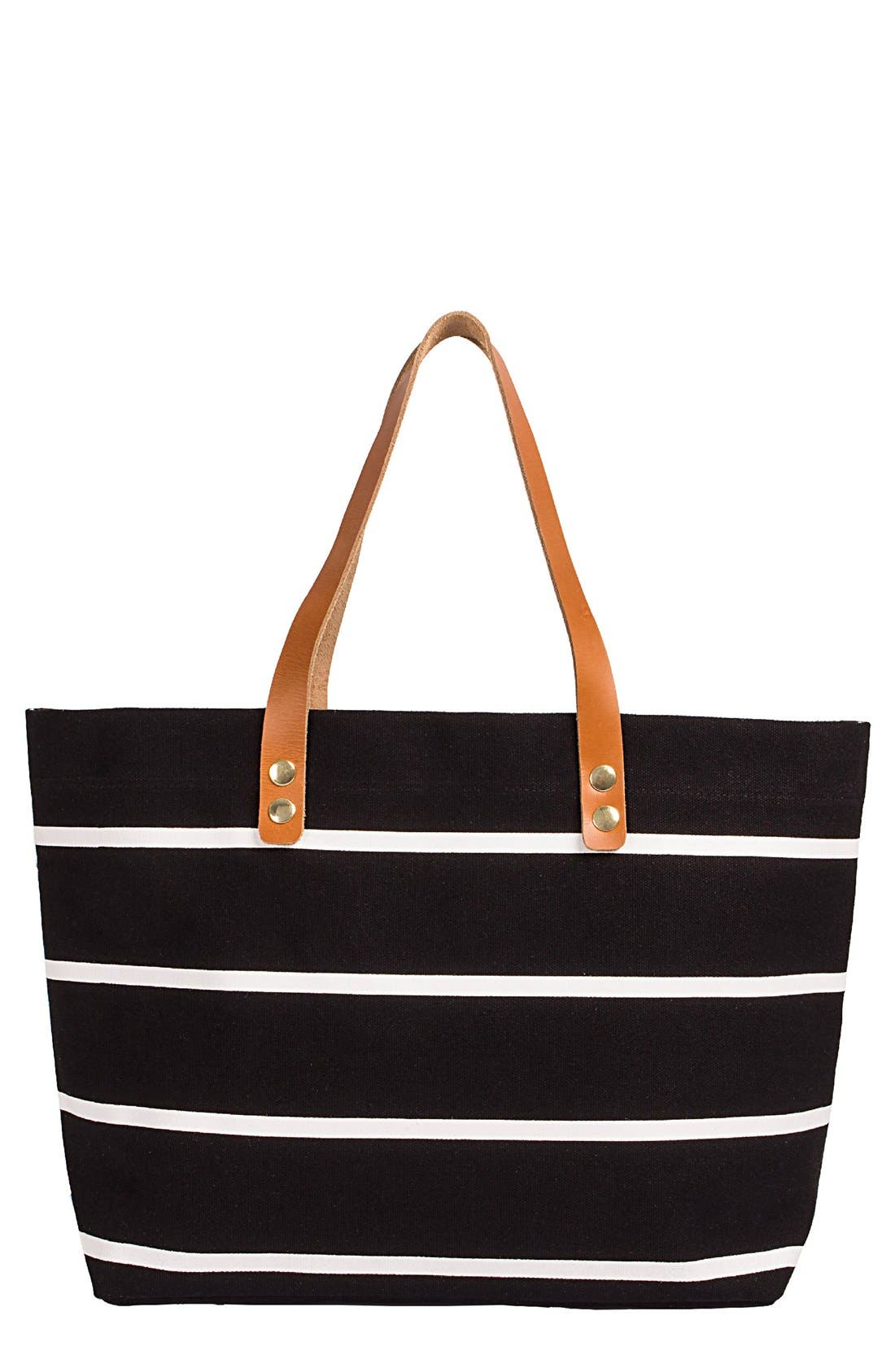Monogram Stripe Tote,                             Main thumbnail 1, color,