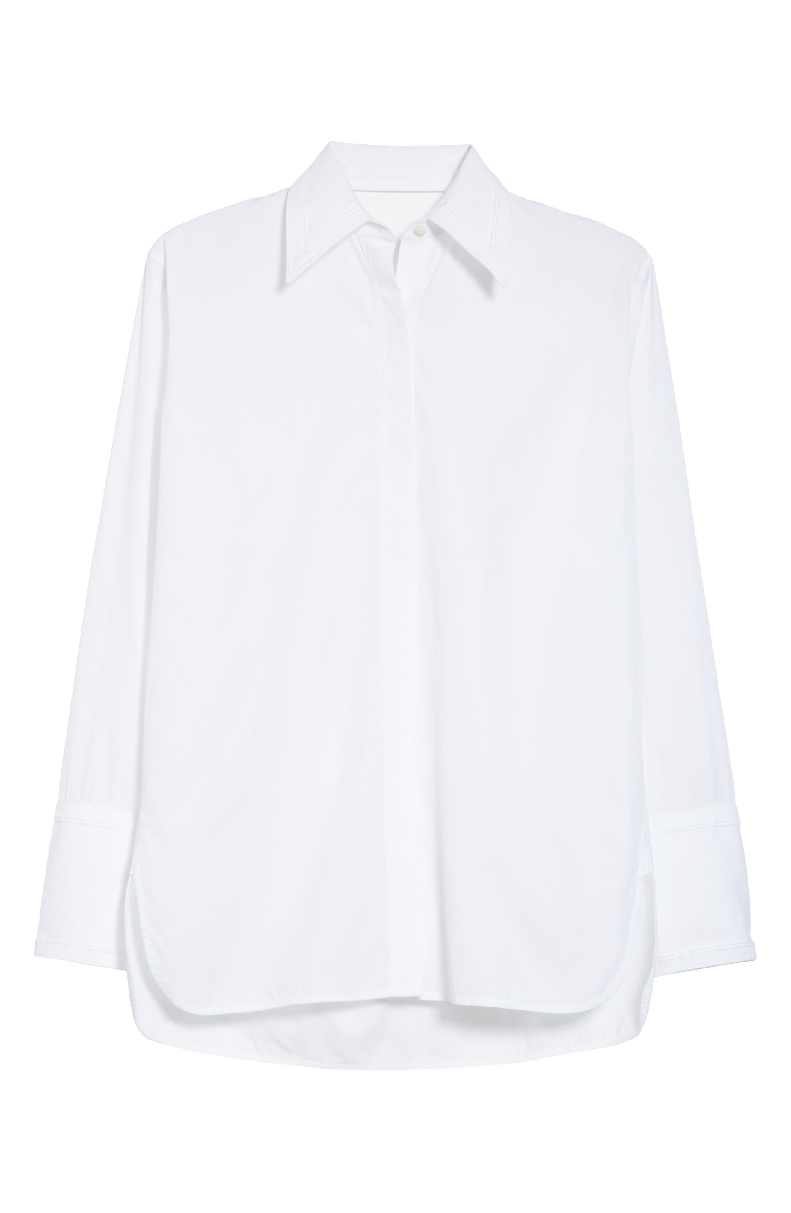 Cutout Cotton Poplin Shirt,                             Alternate thumbnail 6, color,                             139