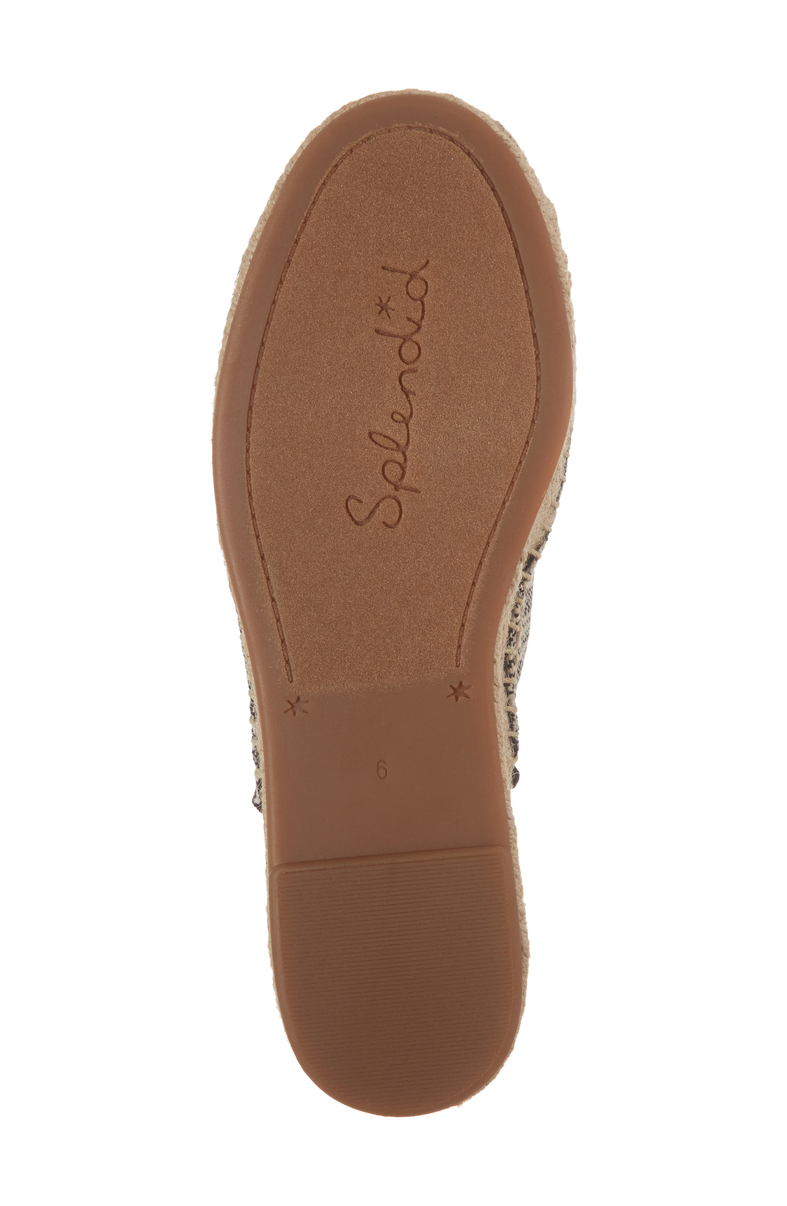 Franci Espadrille Slide Sandal,                             Alternate thumbnail 6, color,                             BLACK/ NATURAL FABRIC