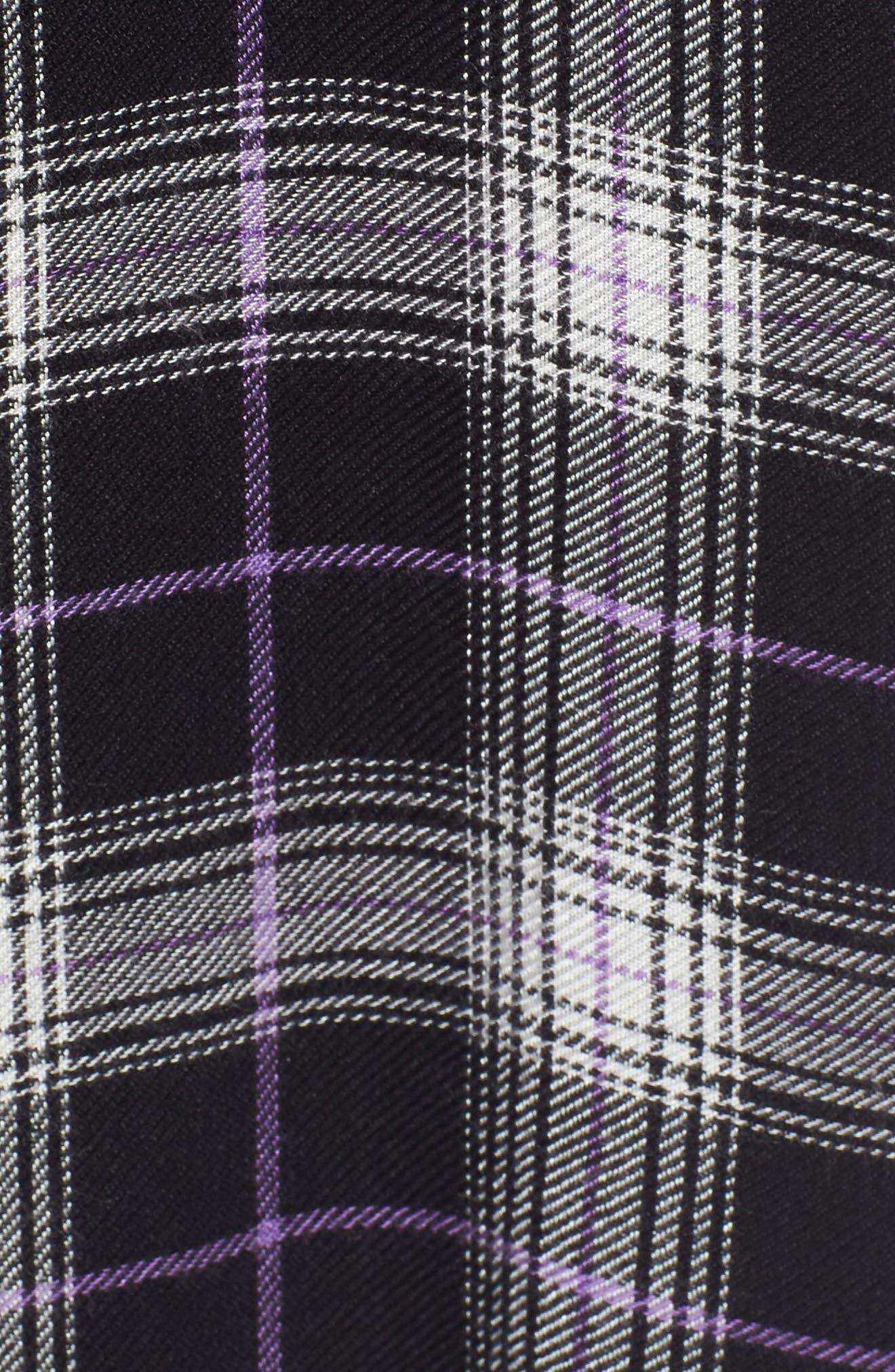 Drapey Plaid Short Sleeve Shirt,                             Alternate thumbnail 5, color,                             BLACK ROCK CODY PLAID