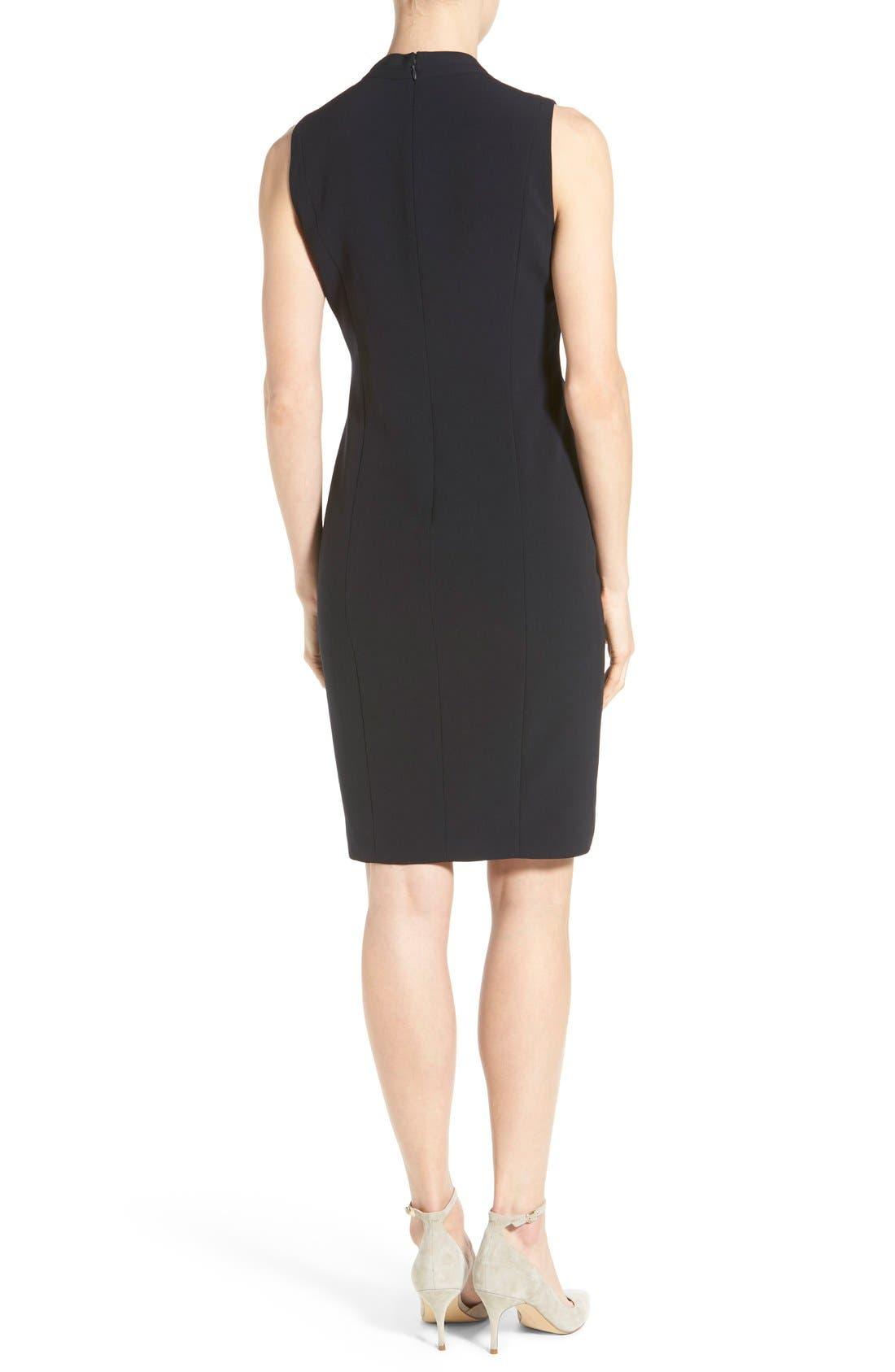 'Tonya' V-Neck Sheath Dress,                             Alternate thumbnail 4, color,