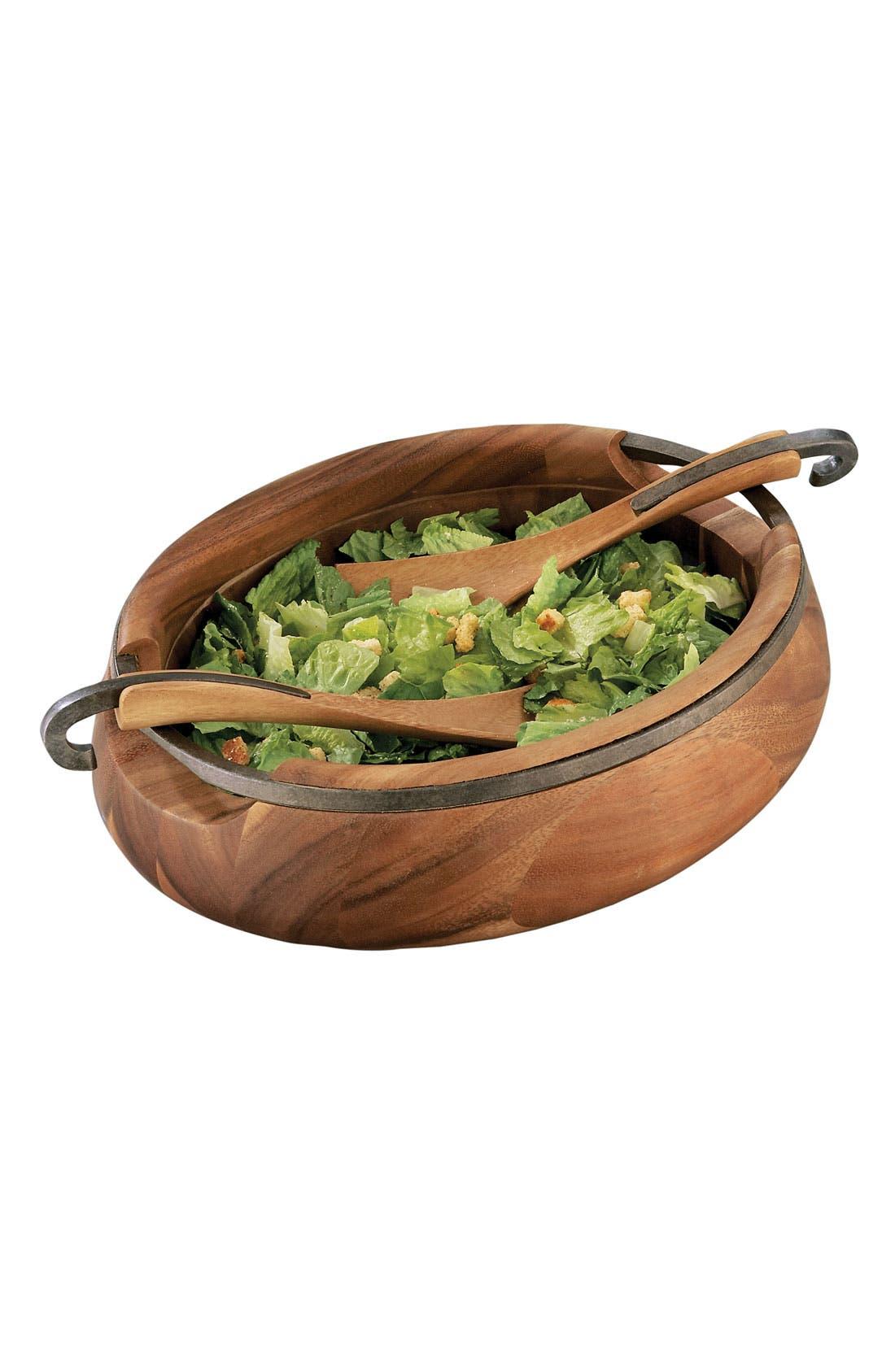 Anvil Salad Bowl & Servers,                             Alternate thumbnail 2, color,                             960