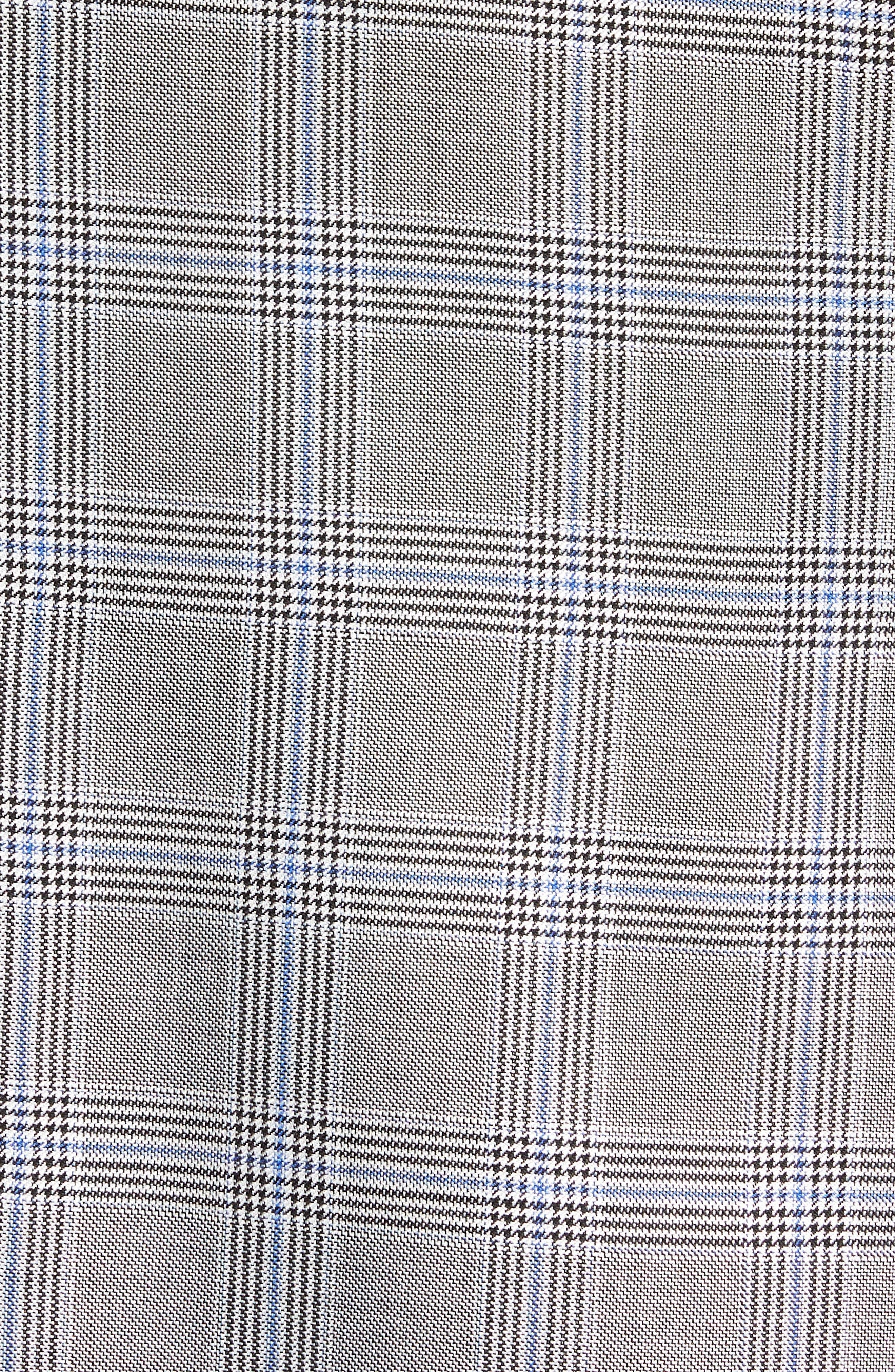 Classic B Fit Plaid Silk & Wool Sport Coat,                             Alternate thumbnail 6, color,                             001