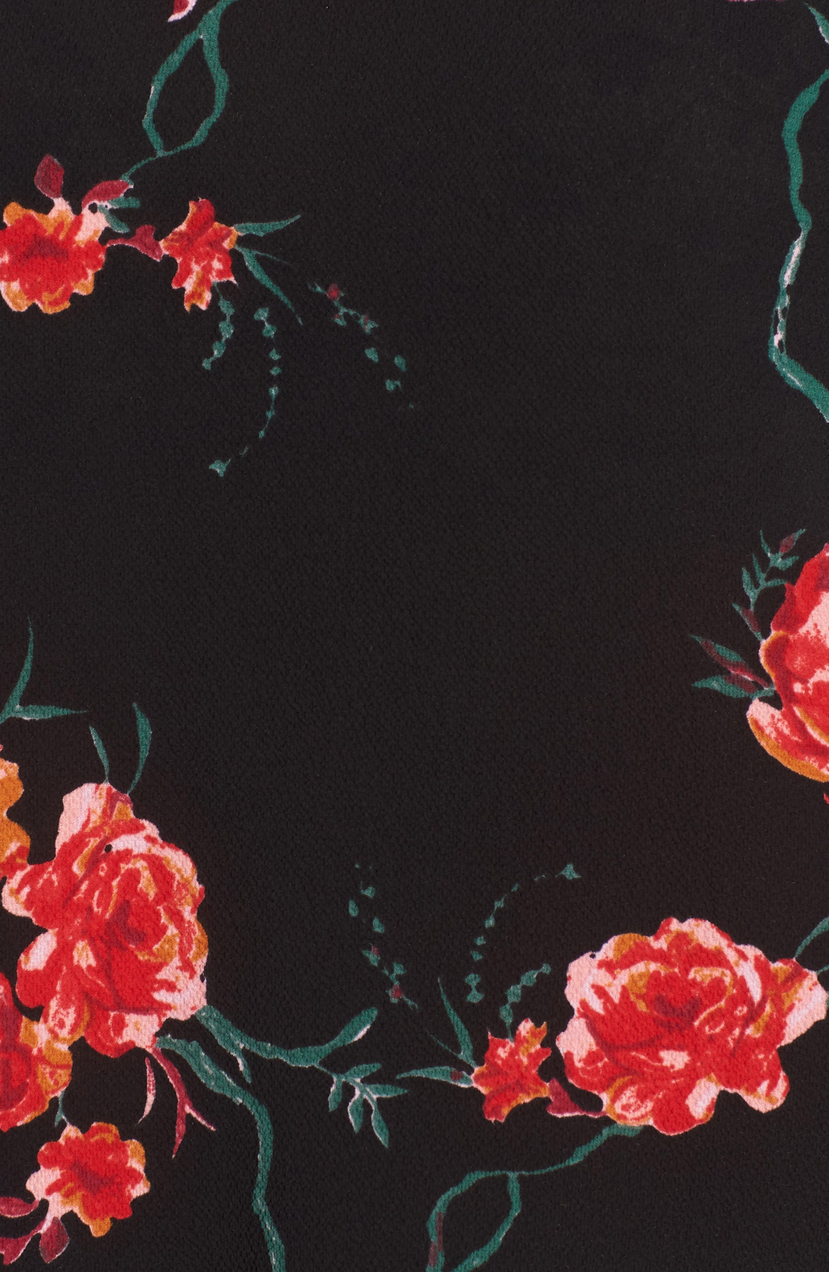 Floral Print Mock Neck Blouse,                             Alternate thumbnail 6, color,                             001