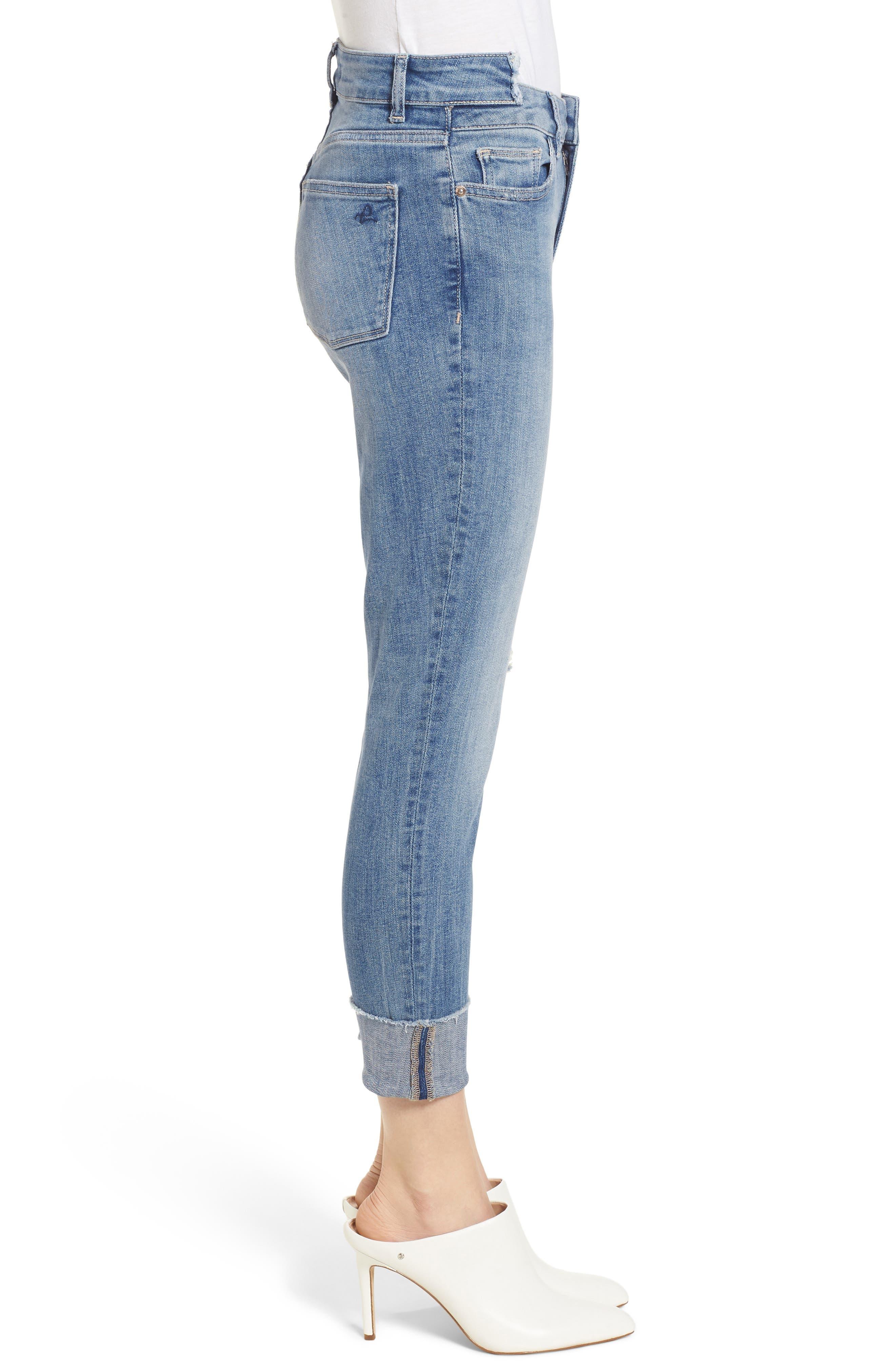 Farrow Instaslim High Waist Ankle Skinny Jeans,                             Alternate thumbnail 3, color,                             429