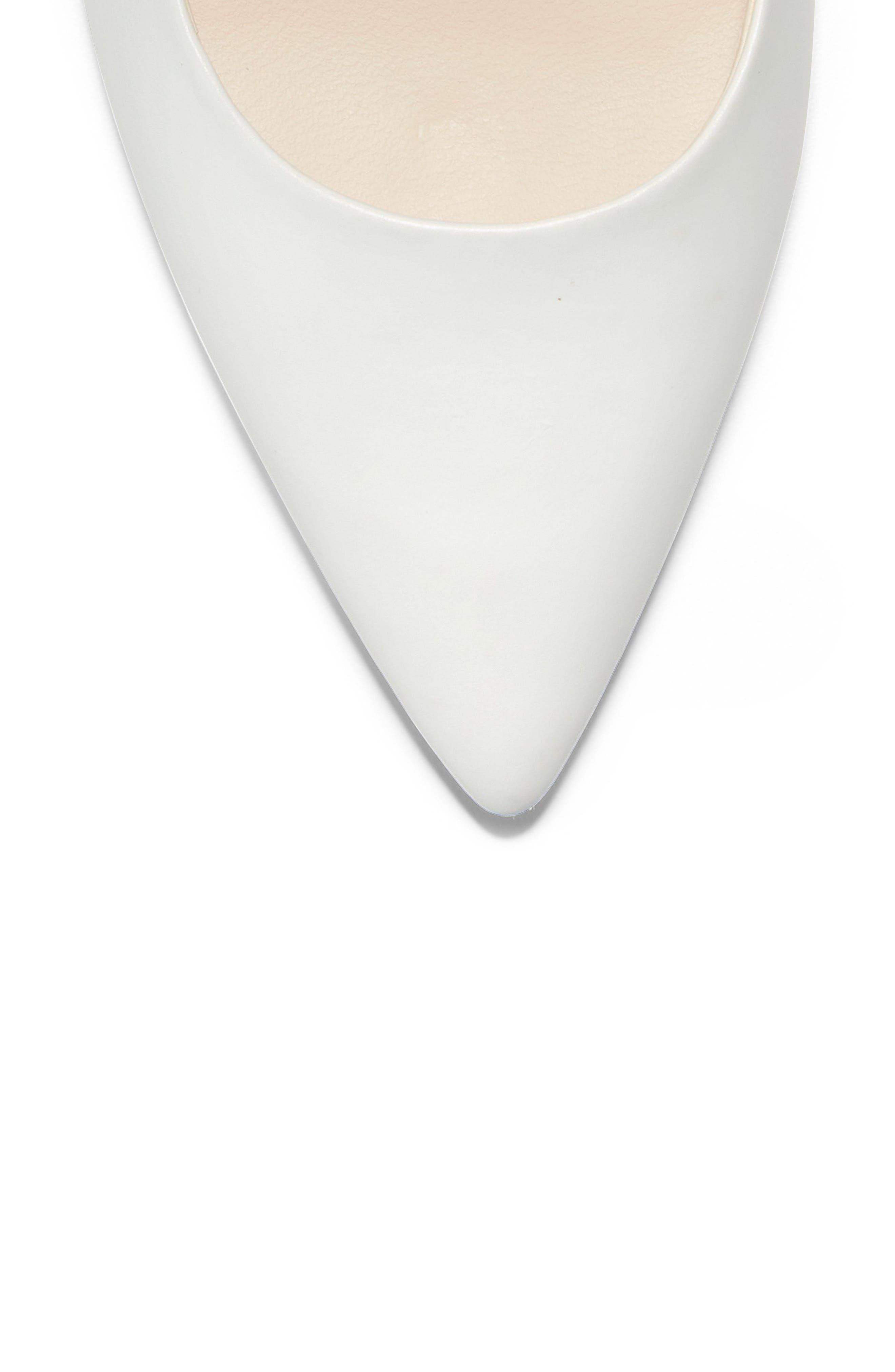 Vesta Pointy Toe Pump,                             Alternate thumbnail 7, color,                             WHITE LEATHER