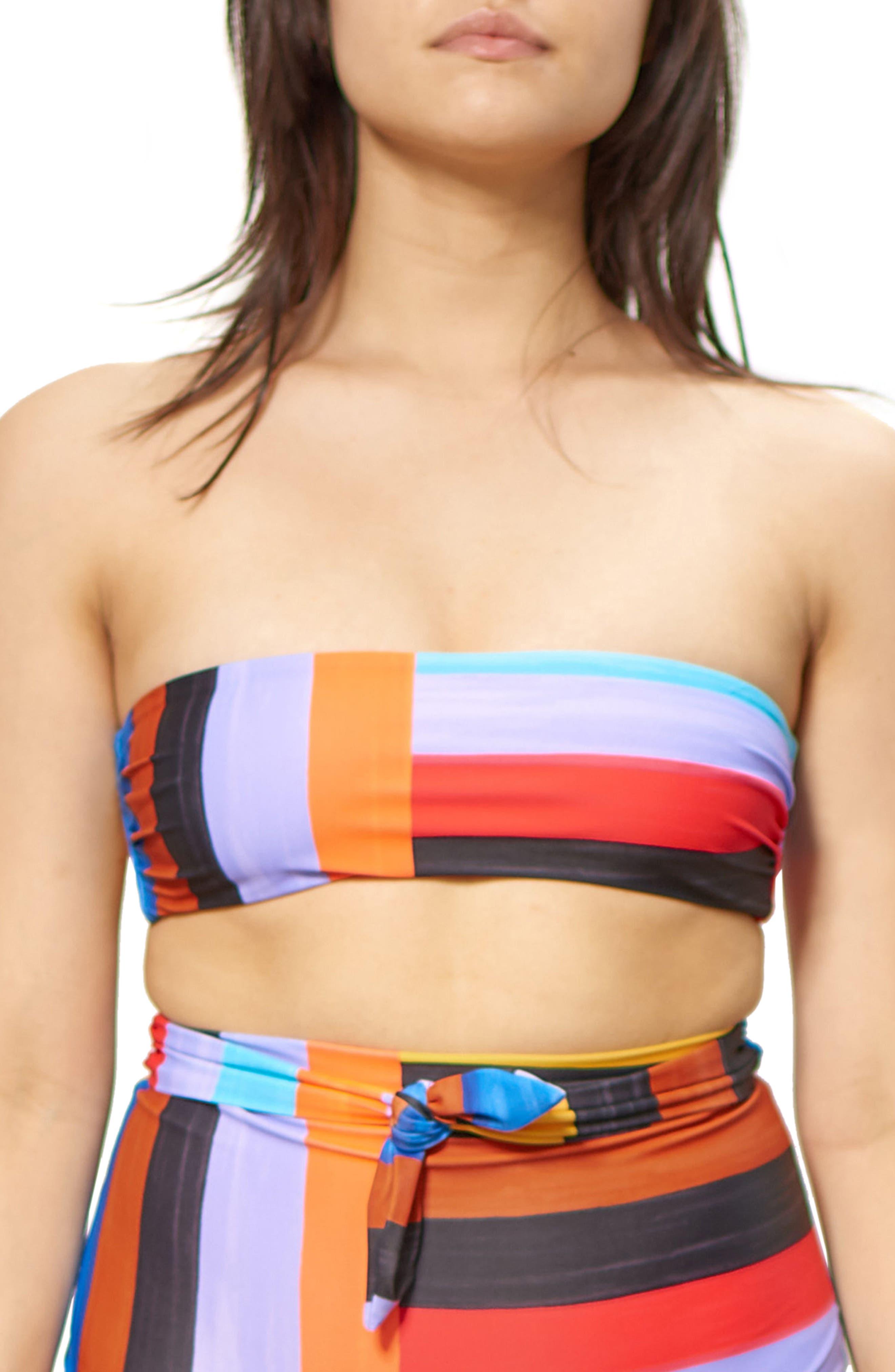 Abigail Bandeau Bikini Top,                             Main thumbnail 1, color,                             001