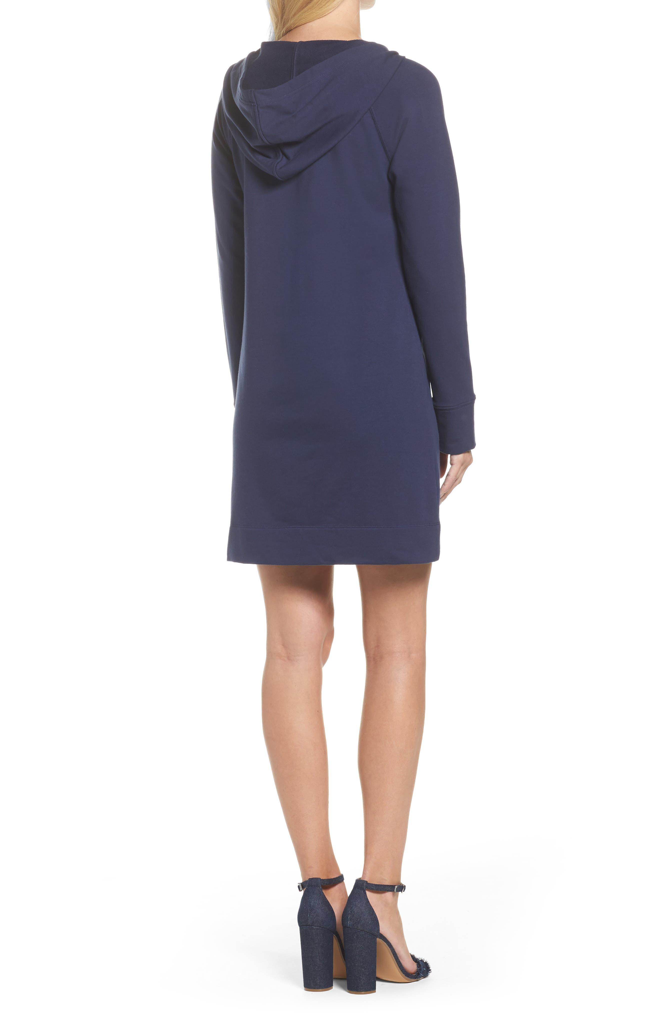 Skipper UPF 50+ Hooded Shift Dress,                             Alternate thumbnail 2, color,