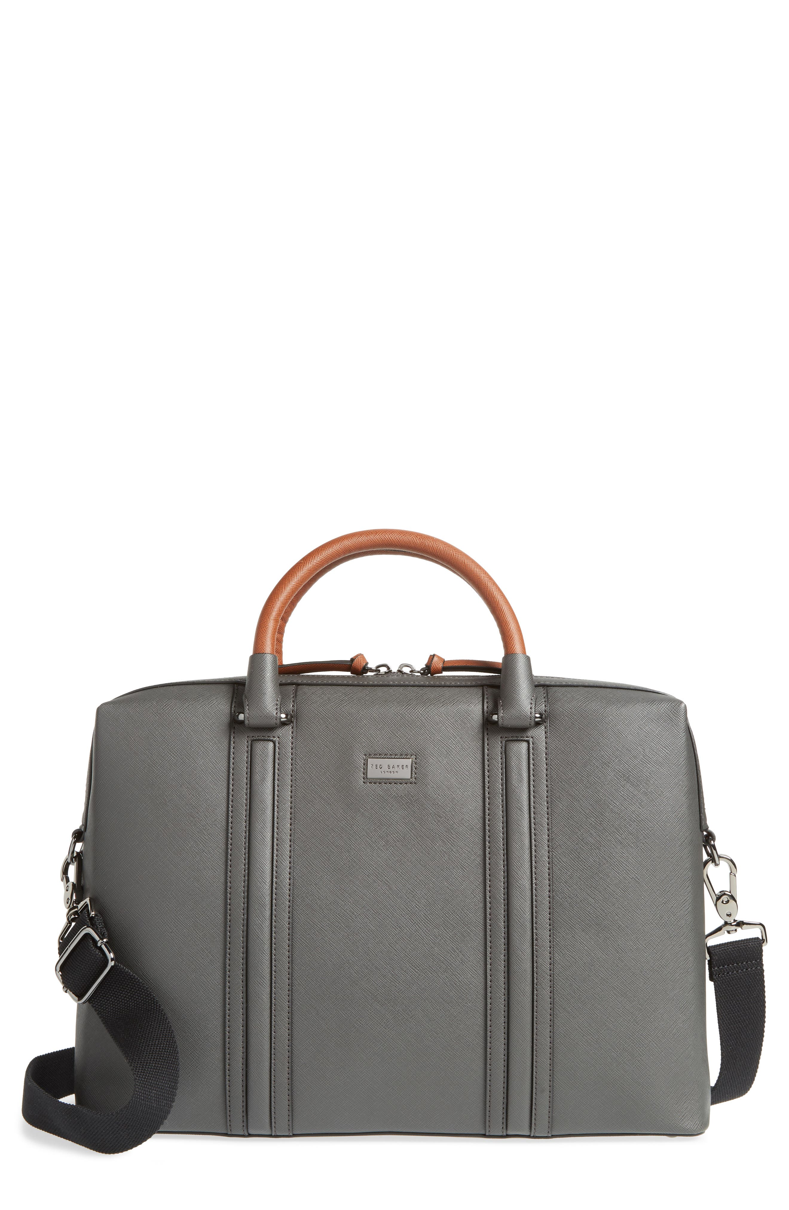 TED BAKER LONDON Crossgrain Document Briefcase, Main, color, 020