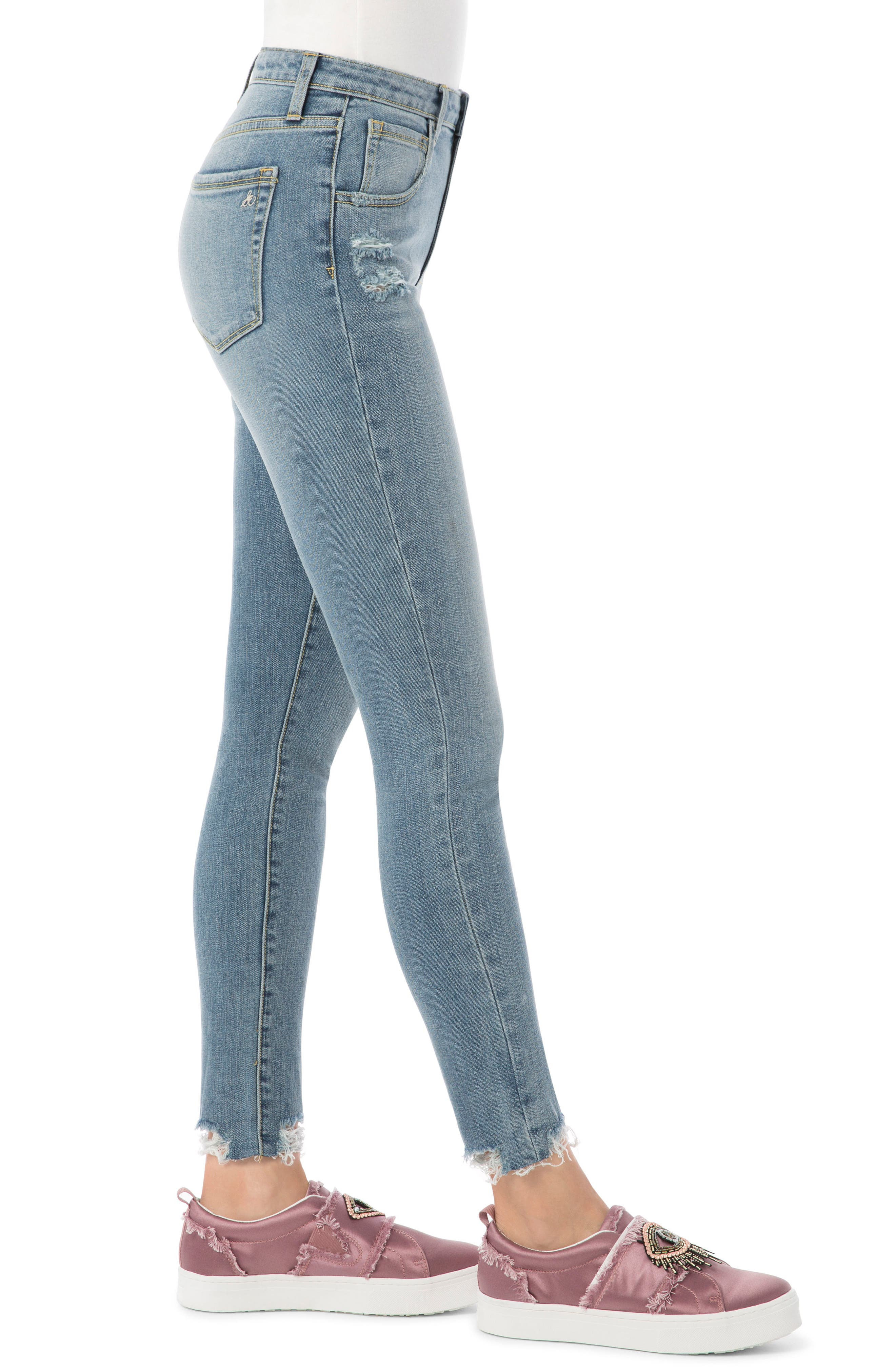 The Stilletto Skinny High-Waist Jeans,                             Alternate thumbnail 3, color,                             419