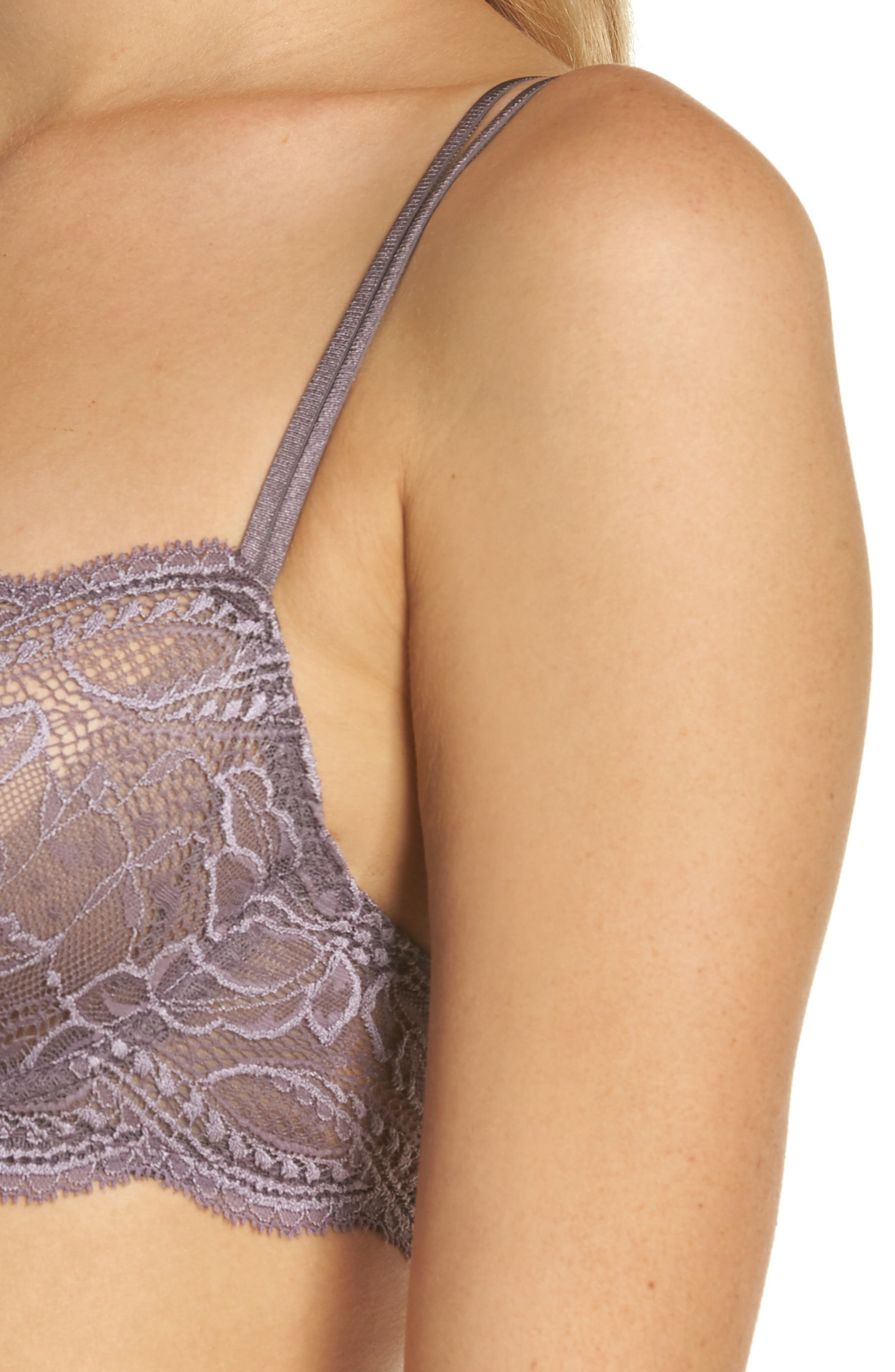 Eden Underwire Plunge Demi Bra,                             Alternate thumbnail 4, color,                             DOVE GREY