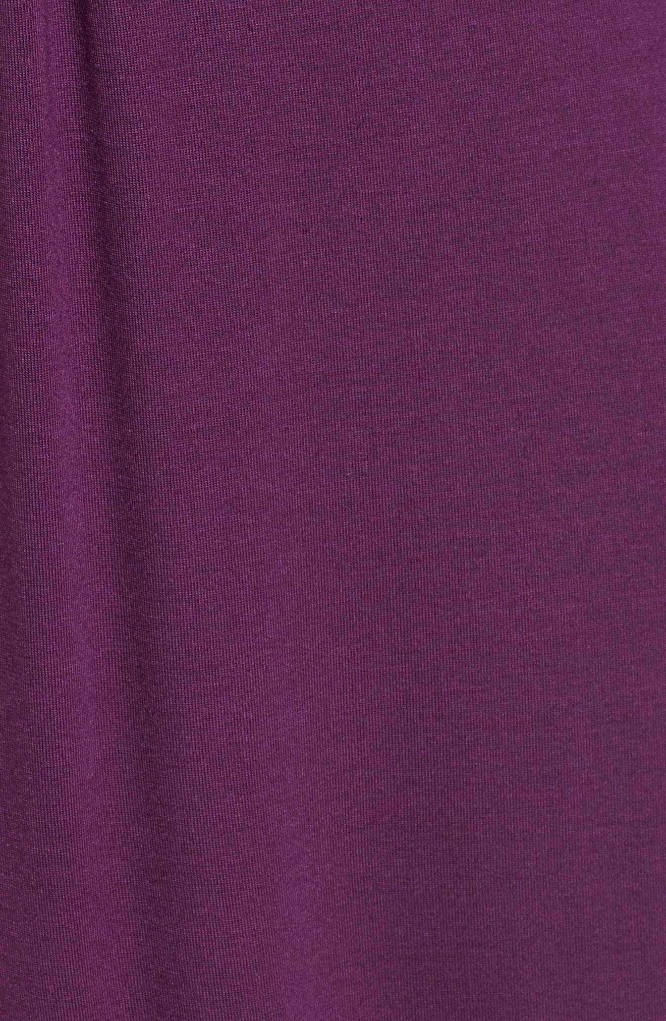 V-Neck Jersey Maxi Dress,                             Alternate thumbnail 5, color,                             PURPLE DARK