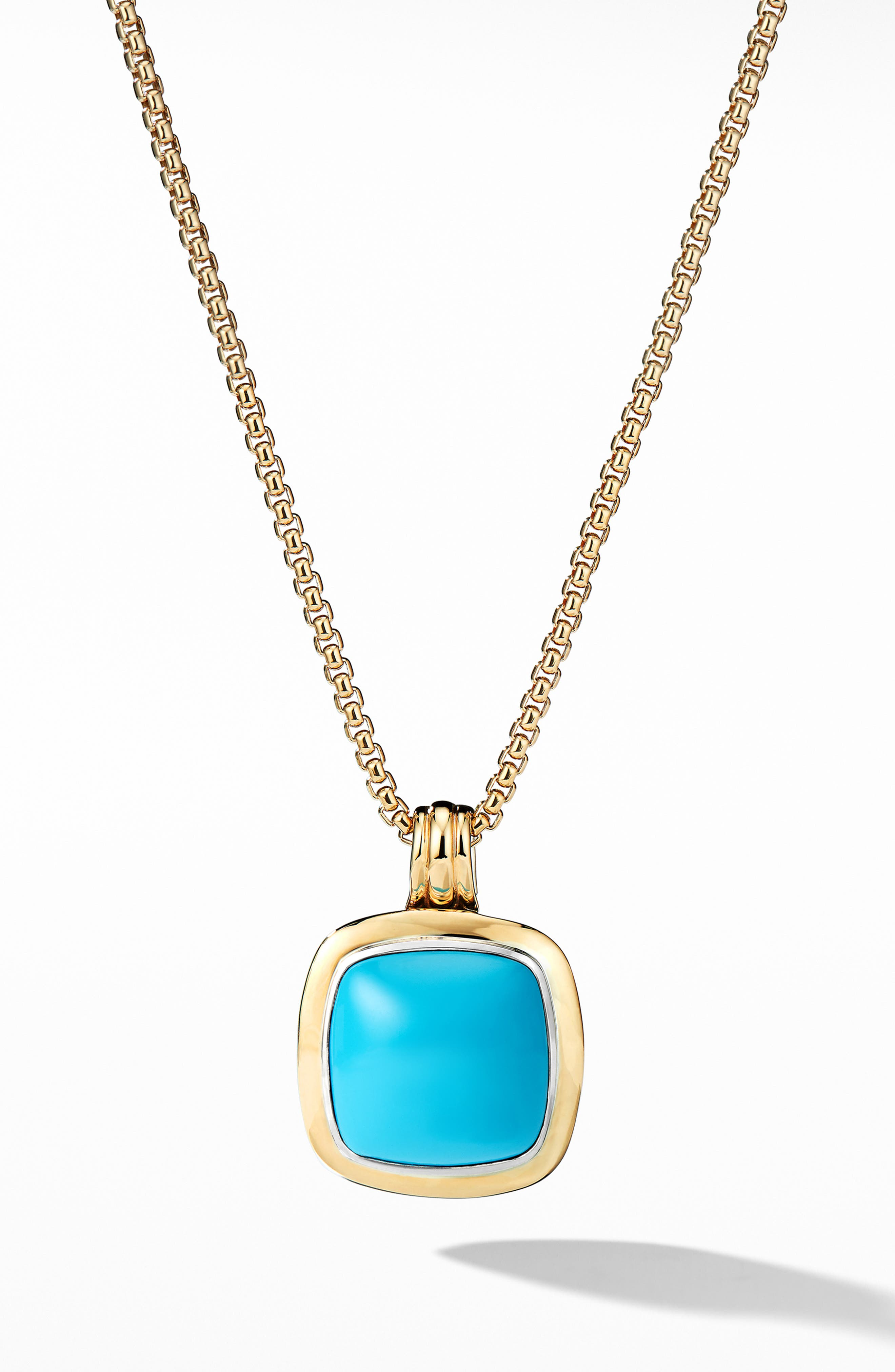 Albion<sup>®</sup> Pendant with 18k Gold,                             Main thumbnail 1, color,                             RECONSTITUTED TURQUOISE