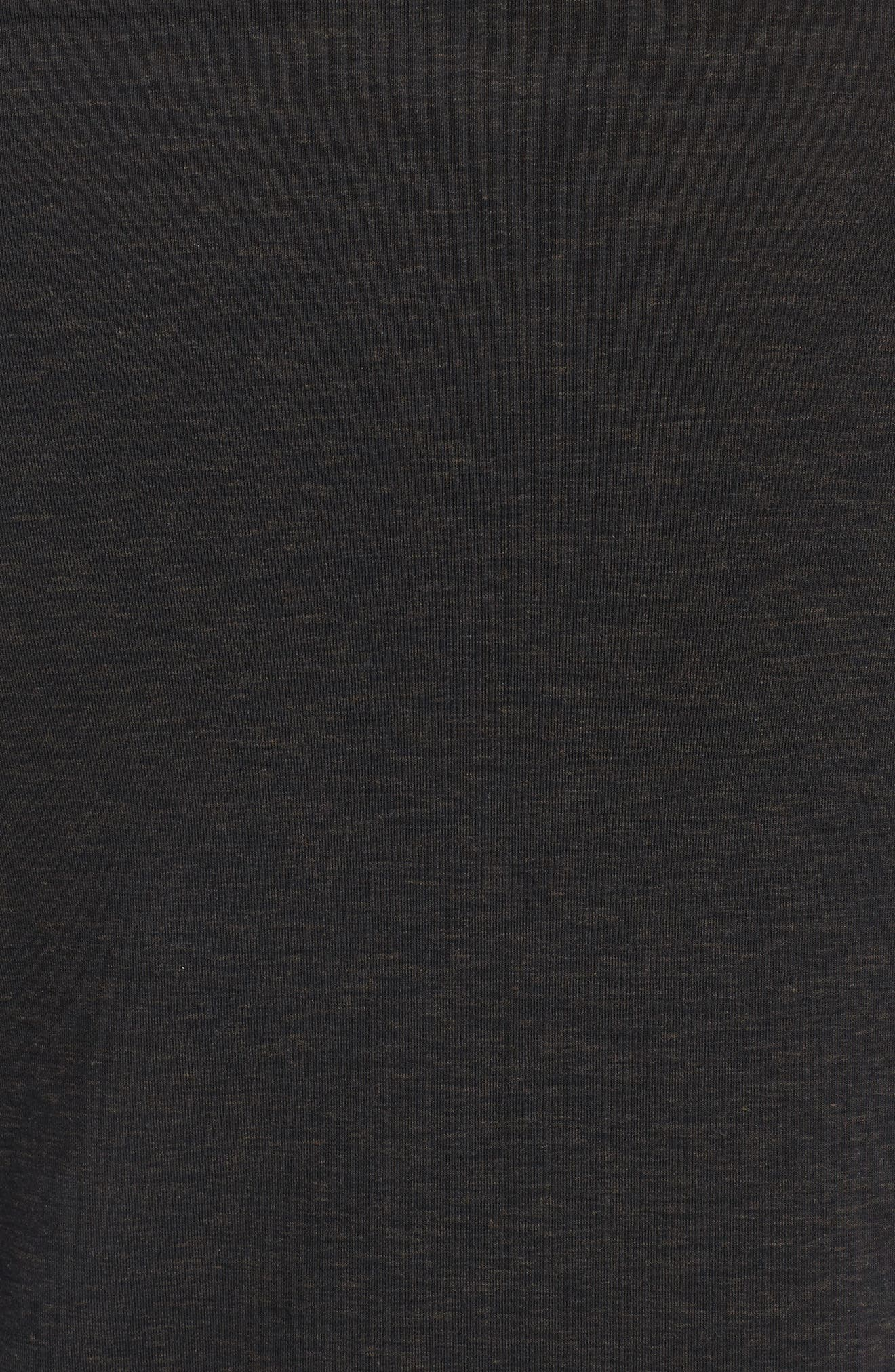 Long Sleeve T-Shirt,                             Alternate thumbnail 5, color,                             BLACK OXIDE HEATHER