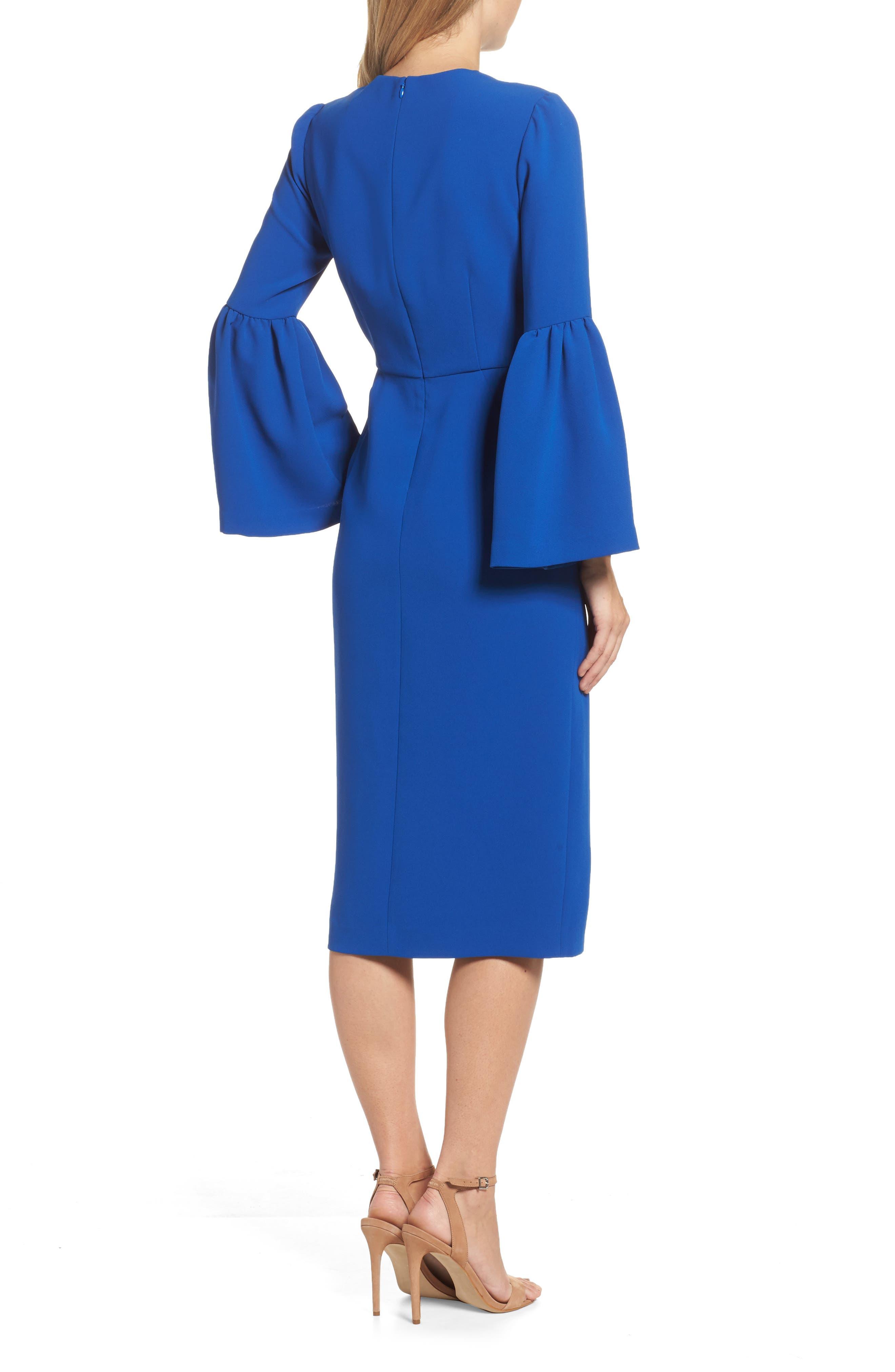 Bell Sleeve Dress,                             Alternate thumbnail 2, color,                             471