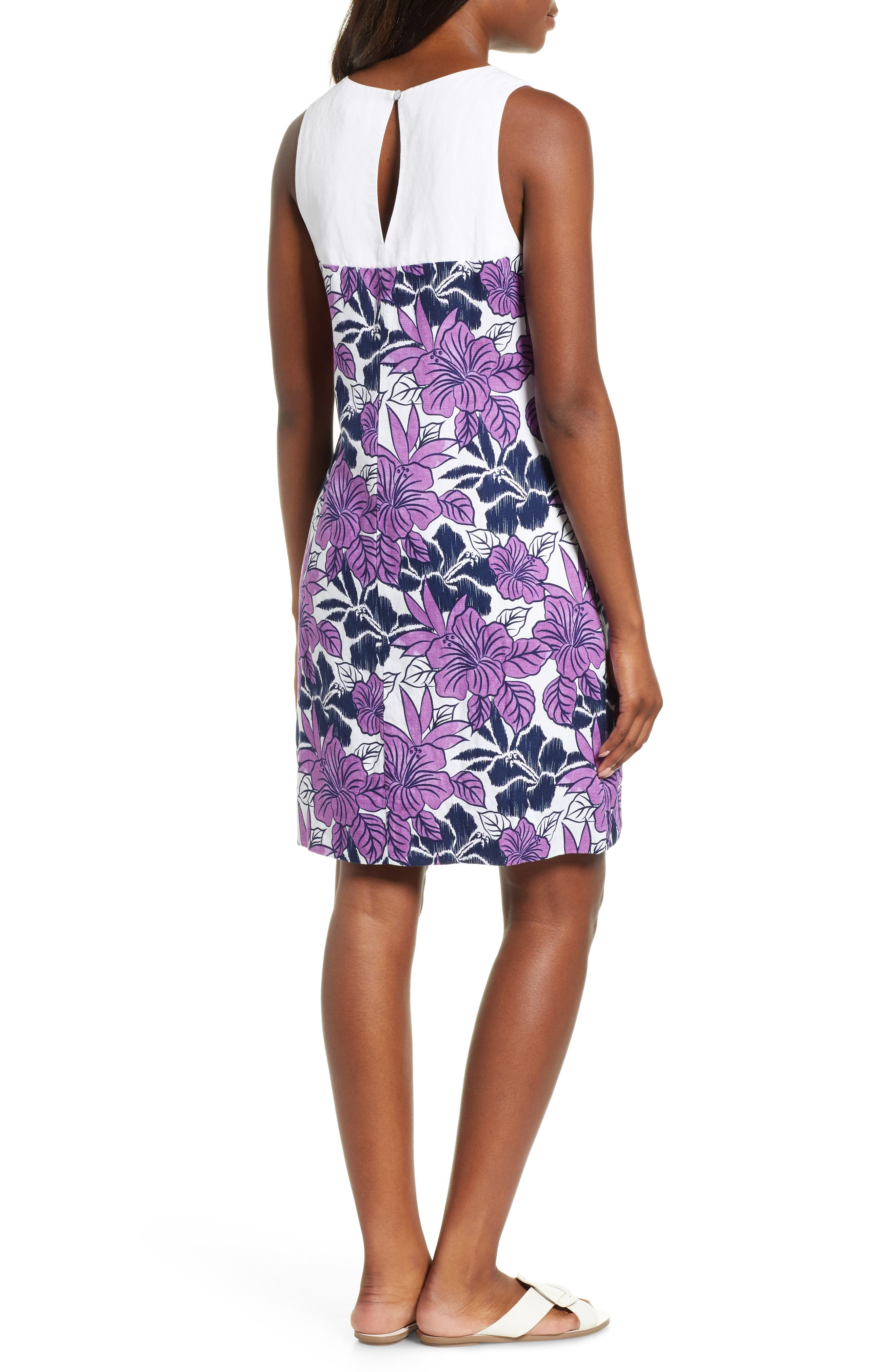 Blissful Blooms Shift Dress,                             Alternate thumbnail 2, color,                             VIVID PURPLE