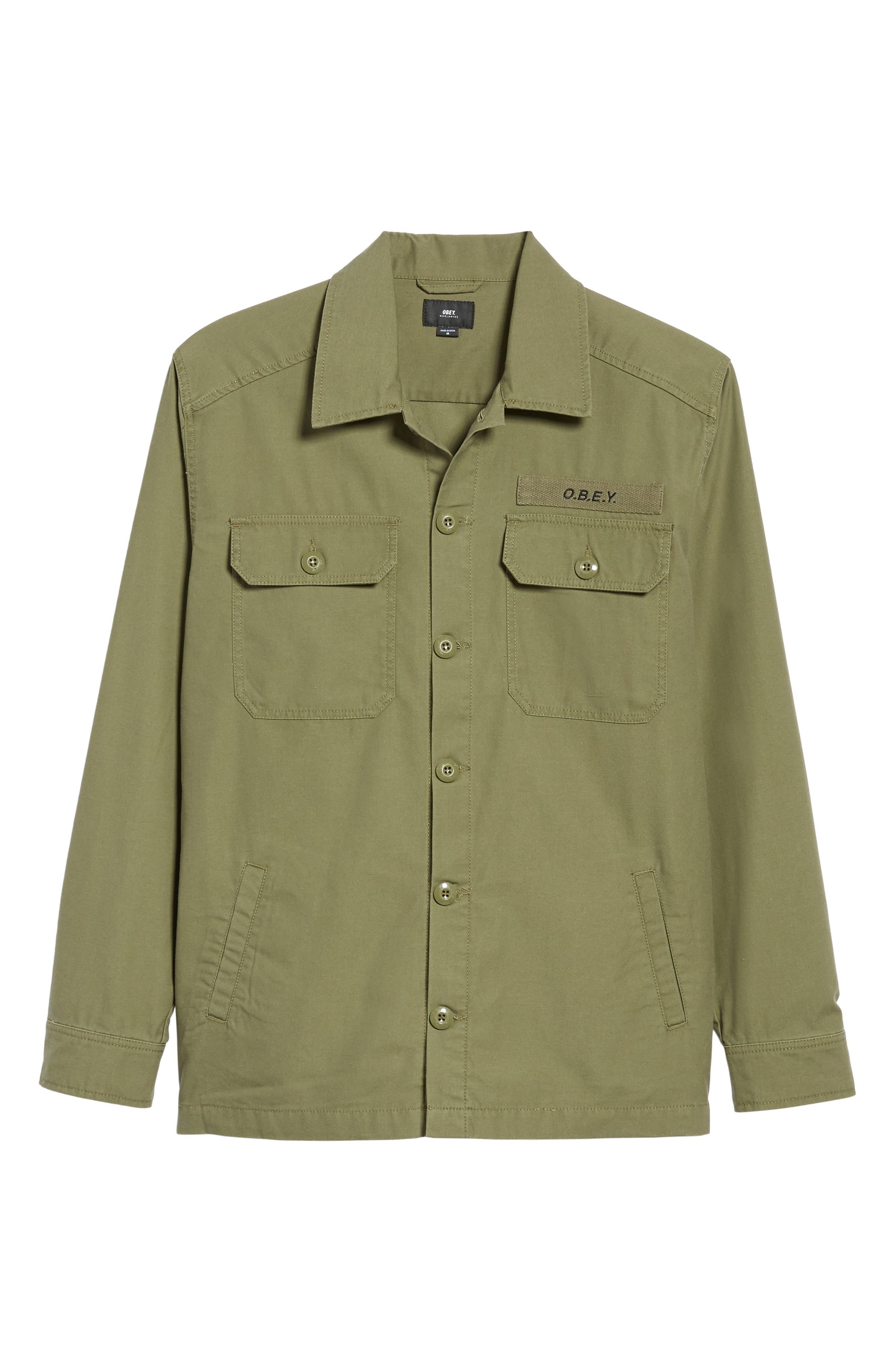 Station Shirt Jacket,                             Alternate thumbnail 5, color,                             BURNT OLIVE