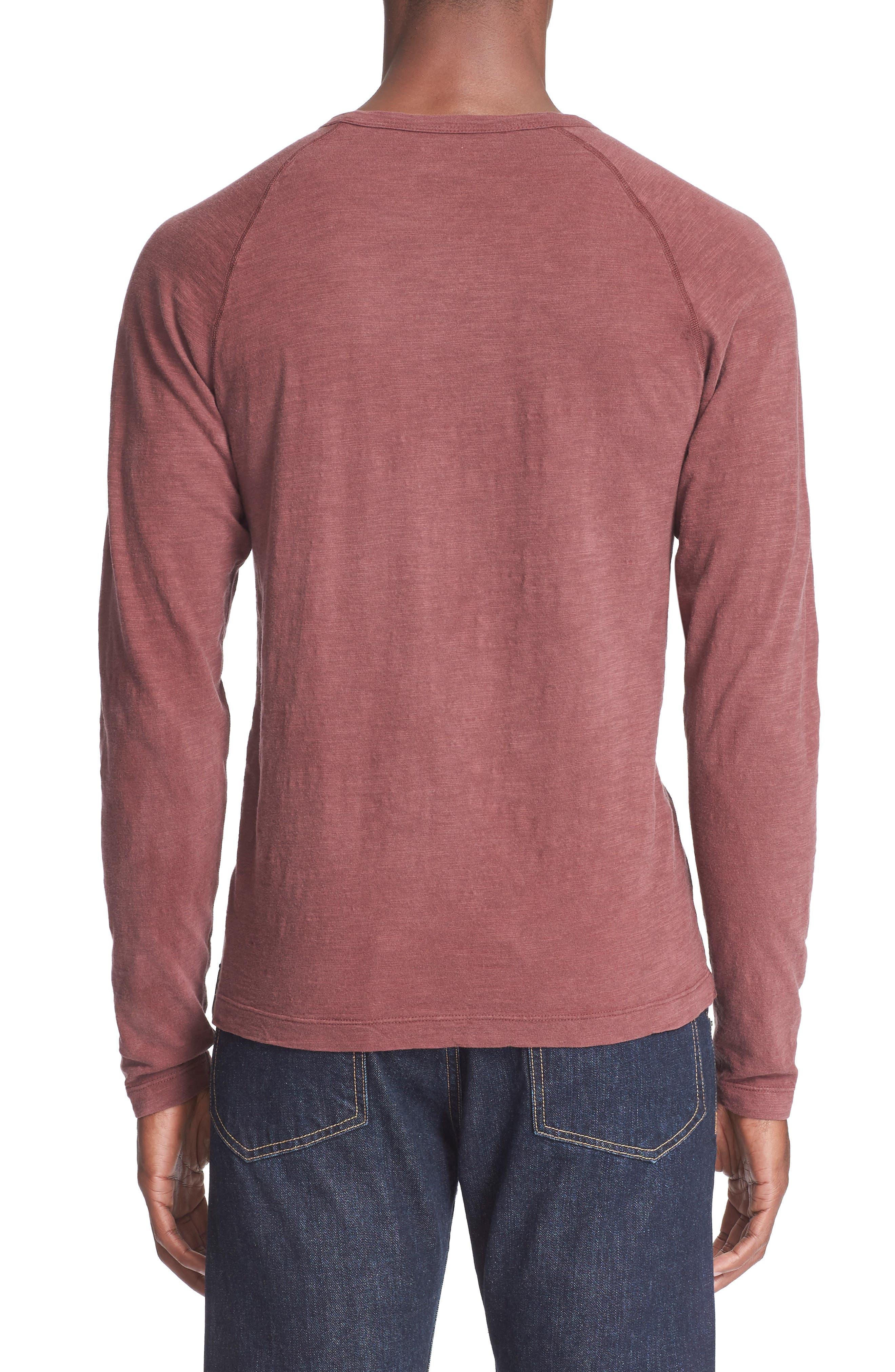 Long Sleeve Cotton Jersey Henley,                             Alternate thumbnail 6, color,