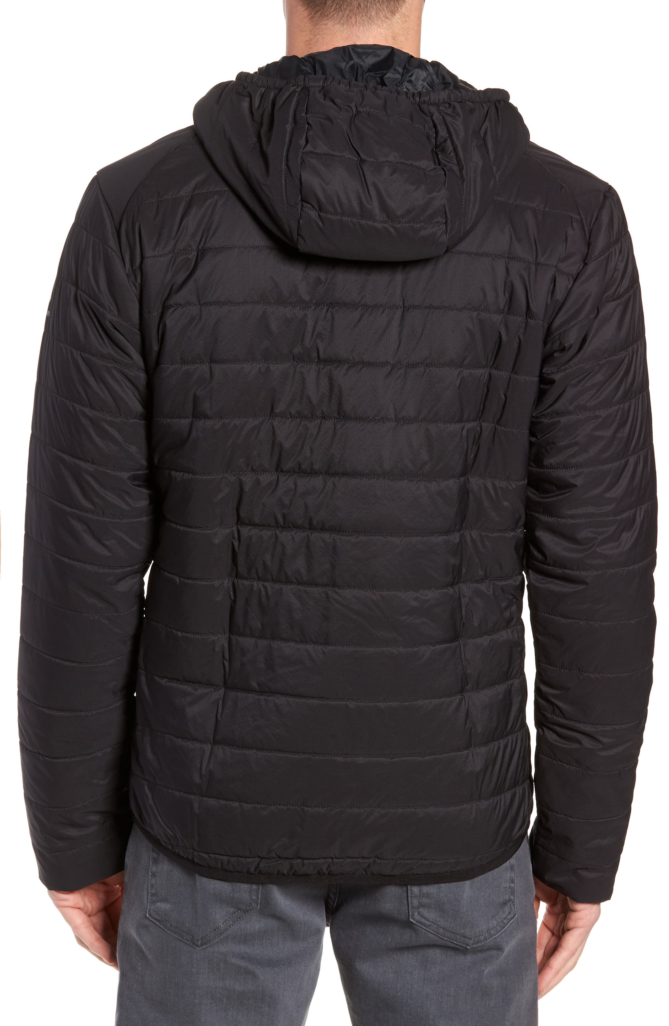 Hyperia MerinoLOFT<sup>™</sup> Hooded Jacket,                             Alternate thumbnail 2, color,                             BLACK