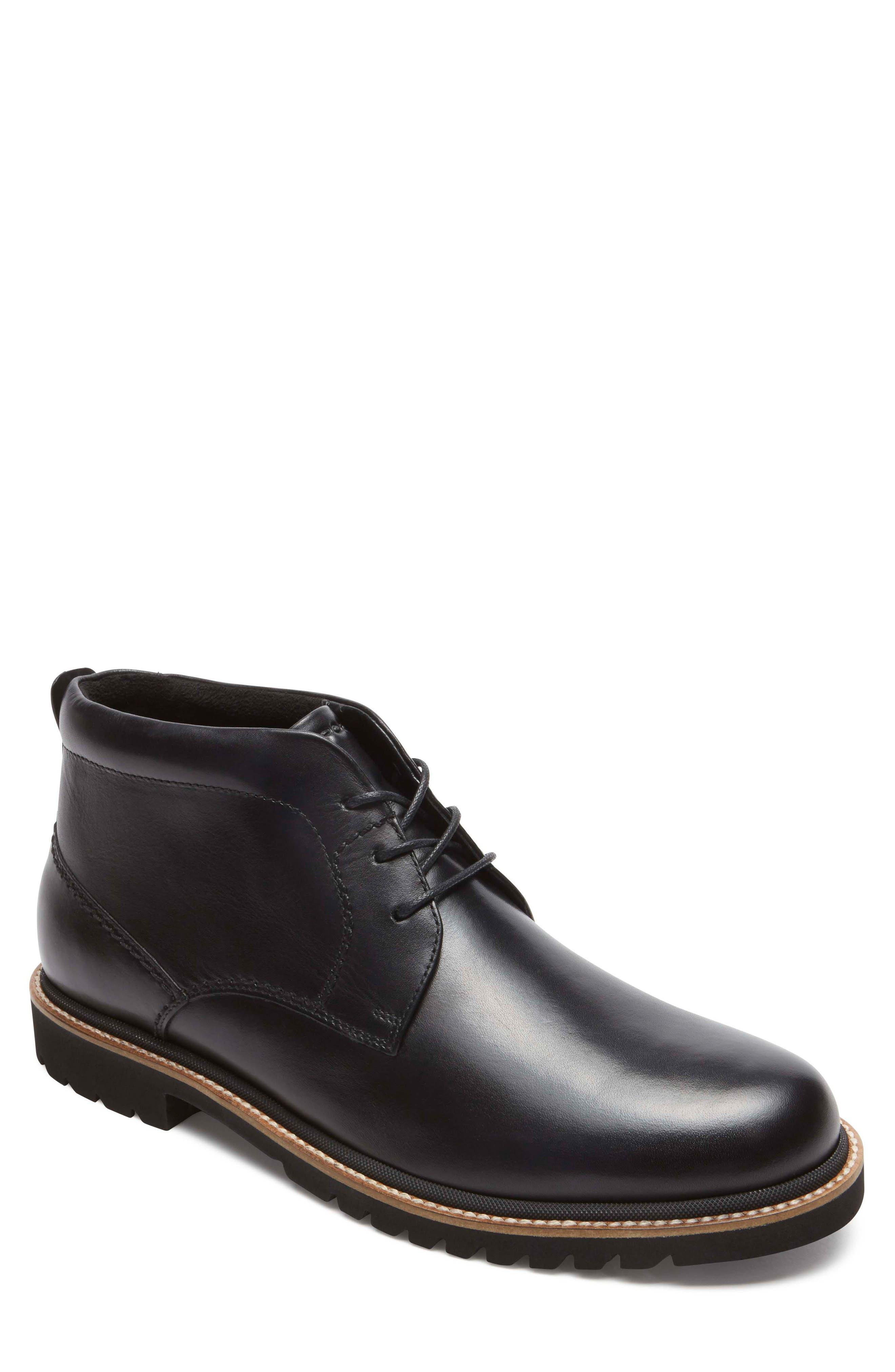 Marshall Chukka Boot,                         Main,                         color, BLACK LEATHER