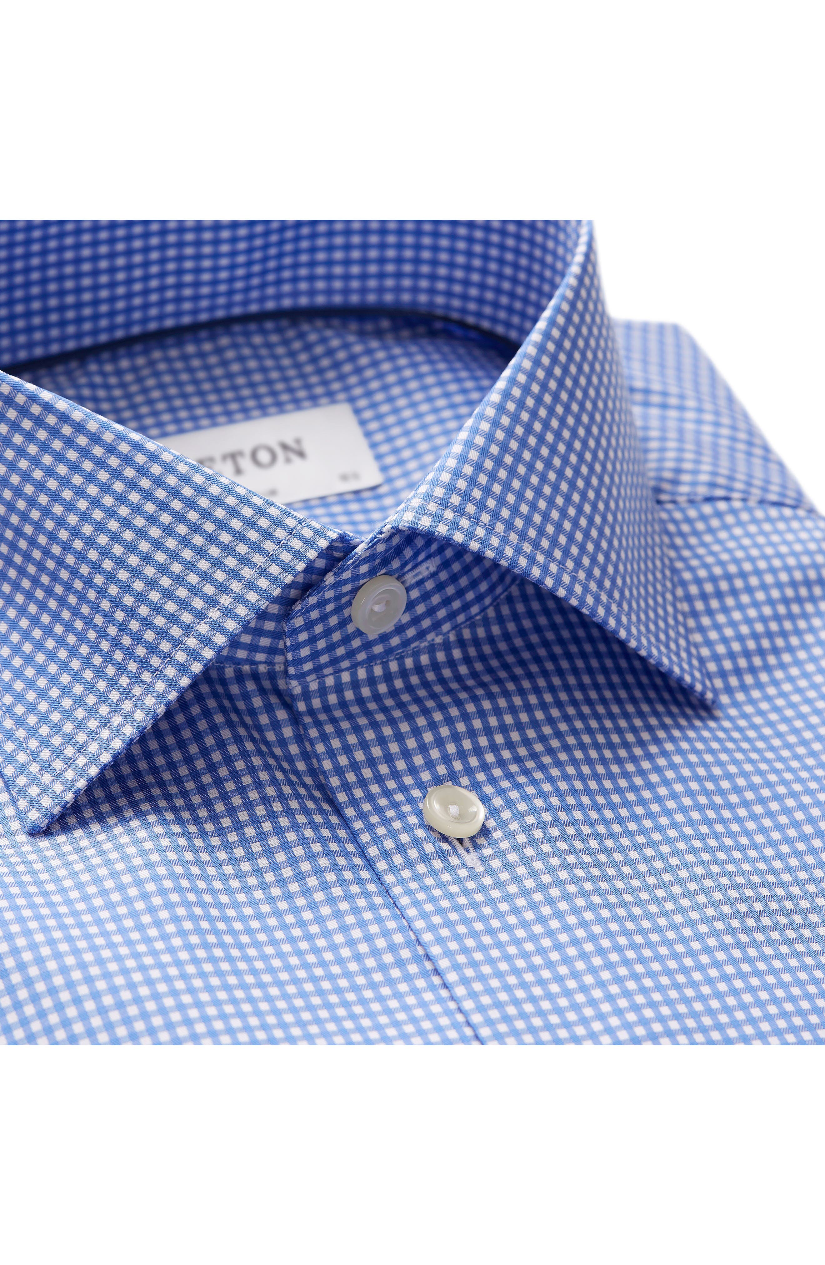 Extra Slim Fit Check Dress Shirt,                             Alternate thumbnail 2, color,                             BLUE/ WHITE