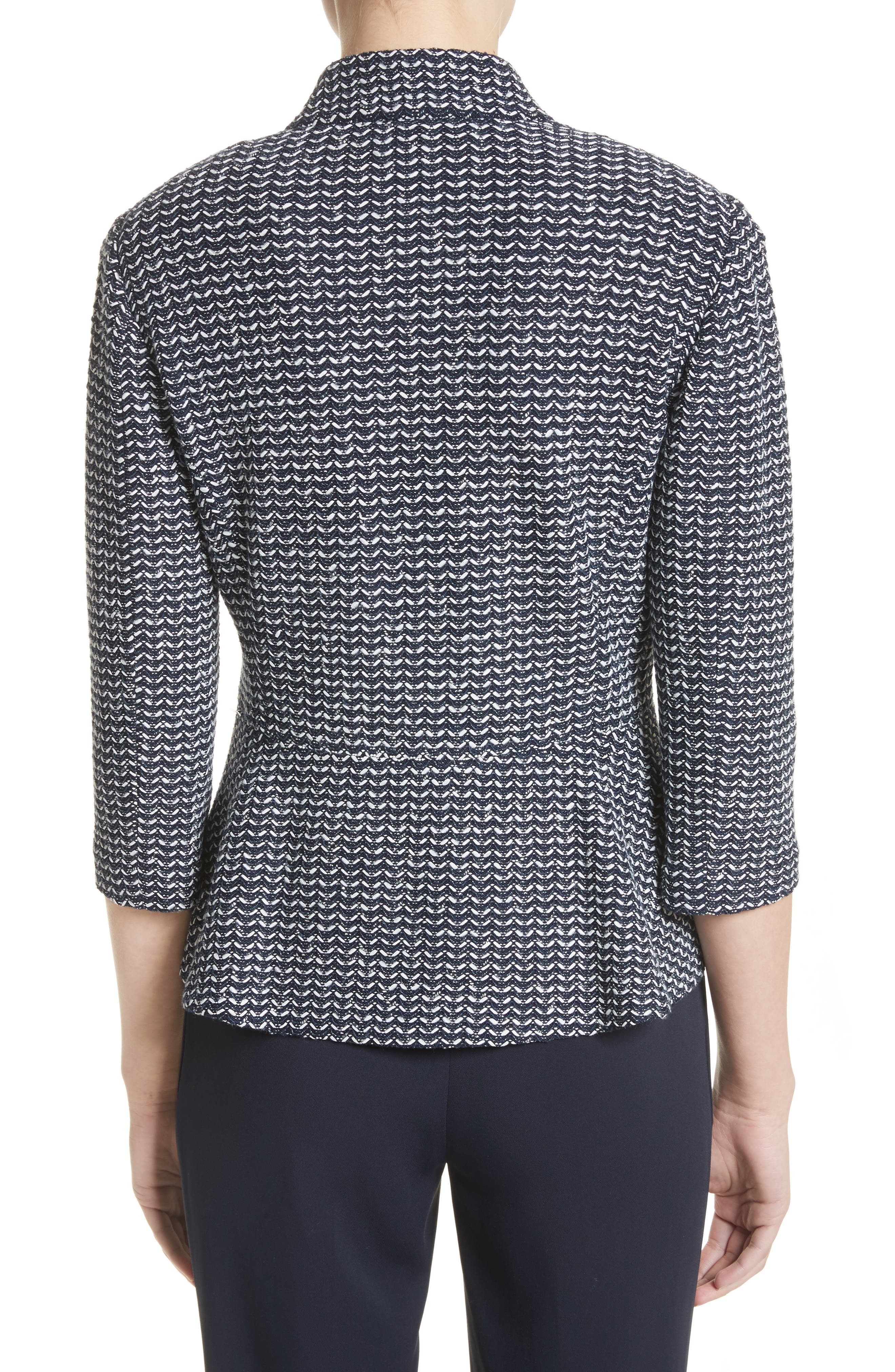 Chevron Knit Jacket,                             Alternate thumbnail 2, color,