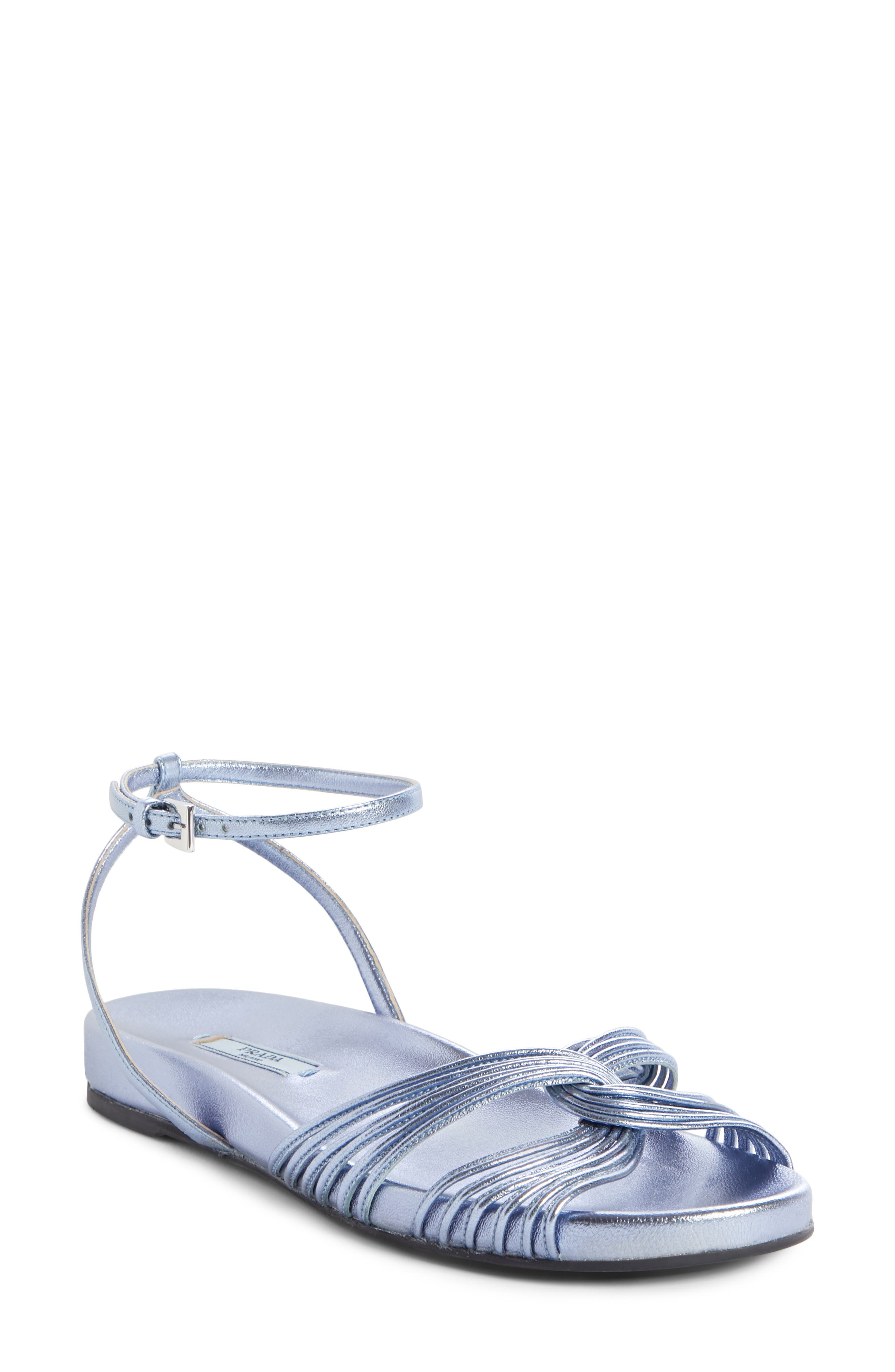 Roping Sandal, Main, color, BLUE LEATHER