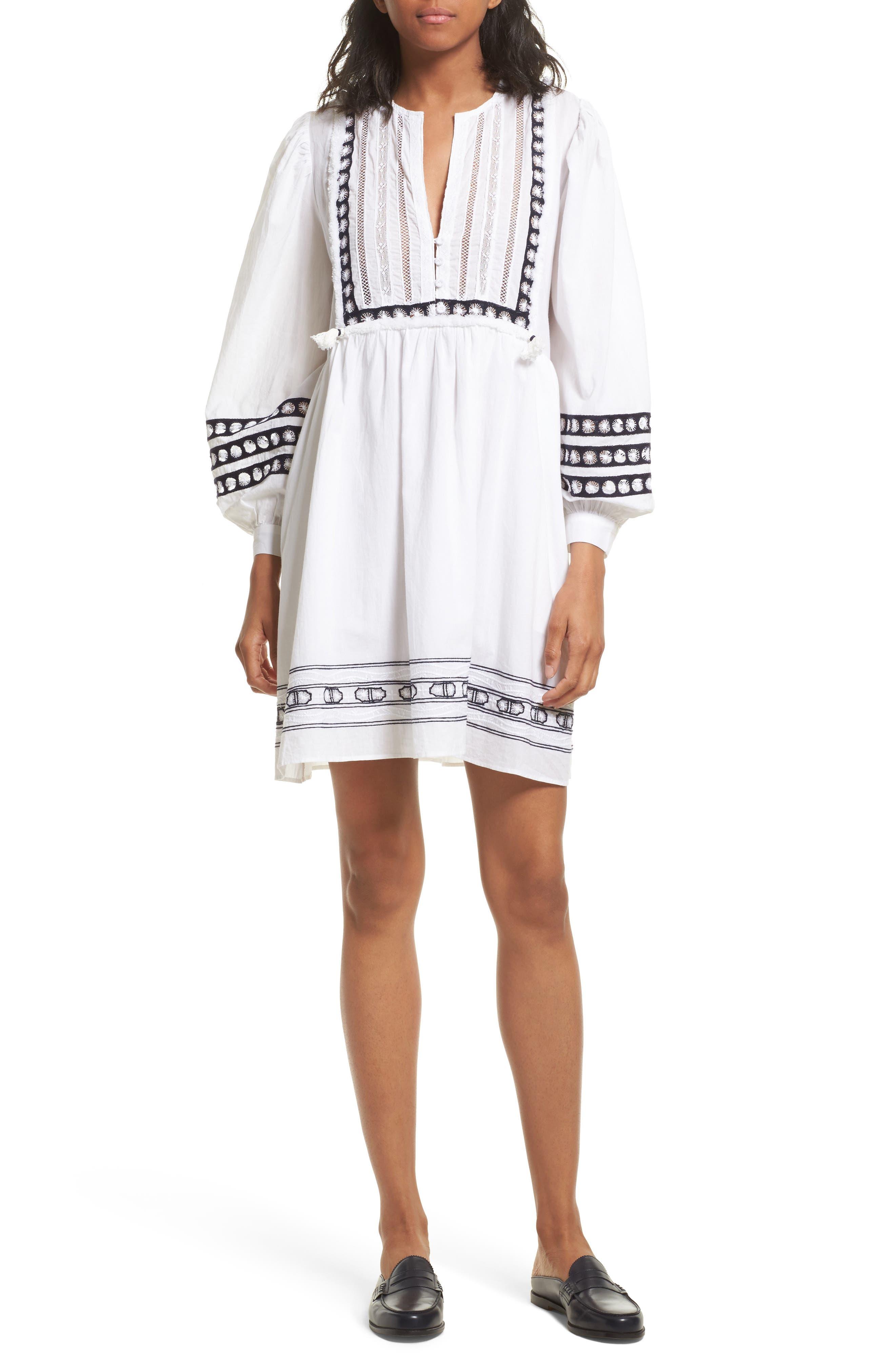 Lace Bib Dress,                             Main thumbnail 1, color,                             100