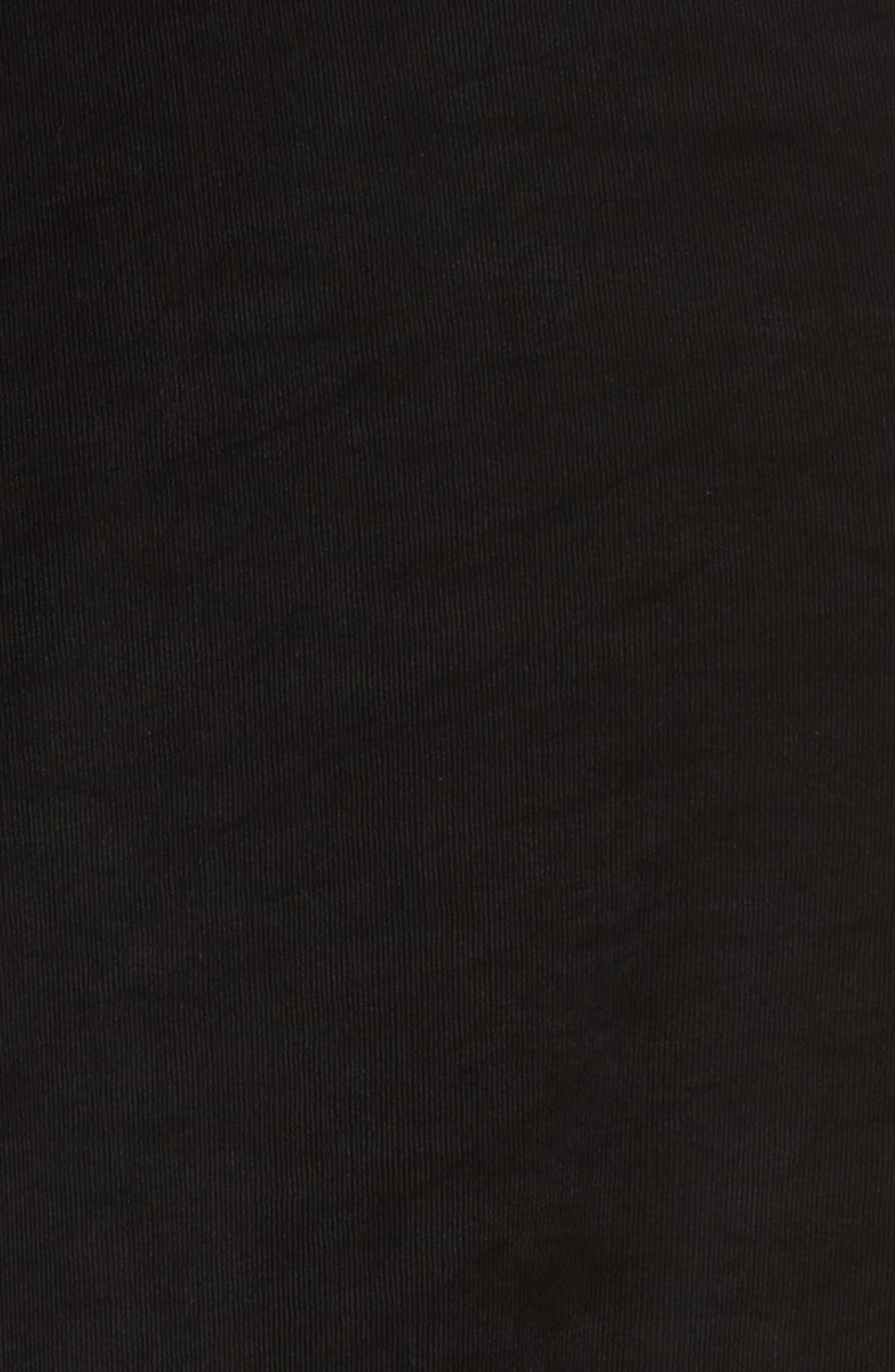 Open Front Swing Cardigan,                             Alternate thumbnail 5, color,                             BLACK
