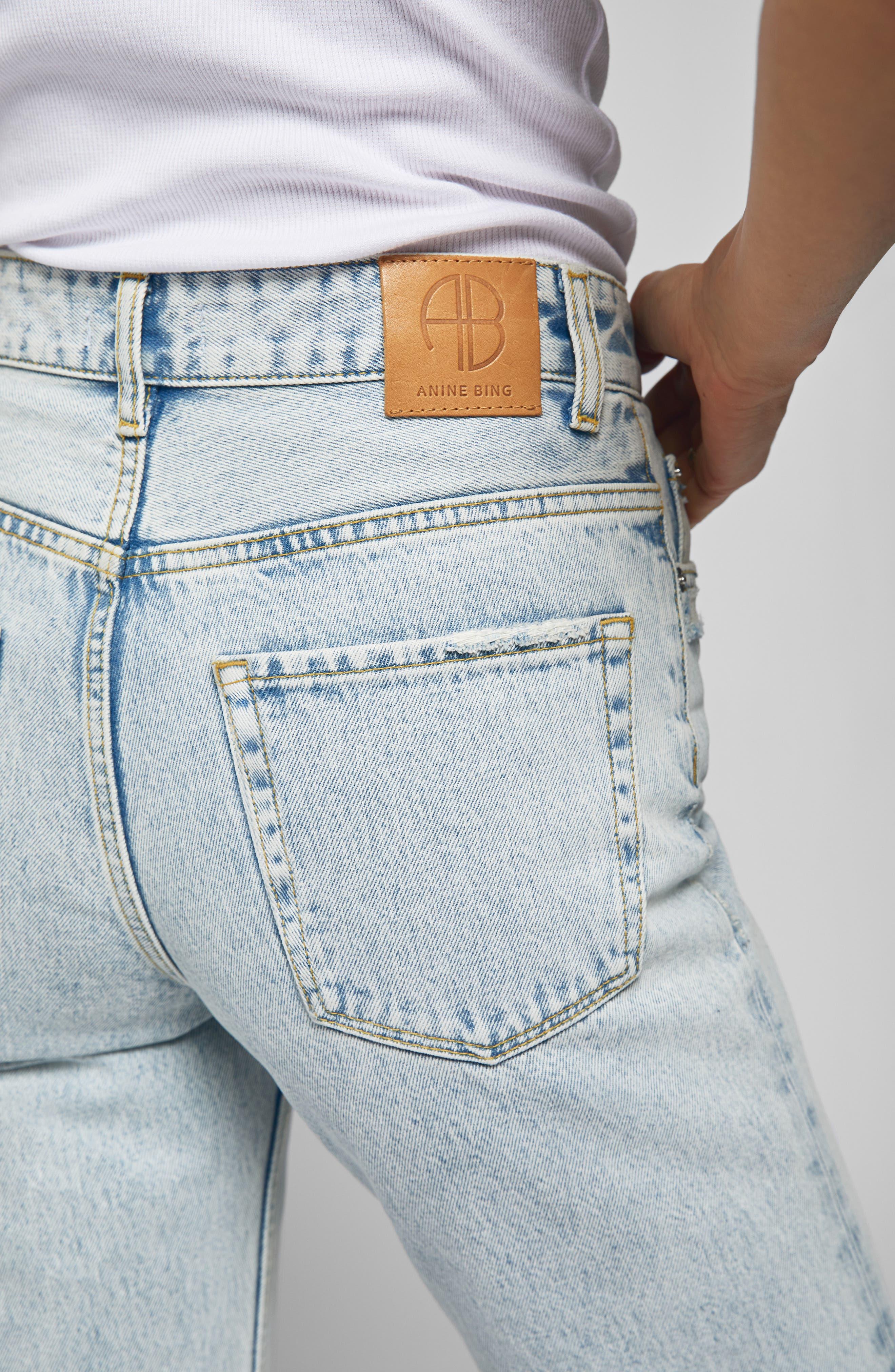 Etta Straight Leg Jeans,                             Alternate thumbnail 3, color,                             LIGHT BLUE