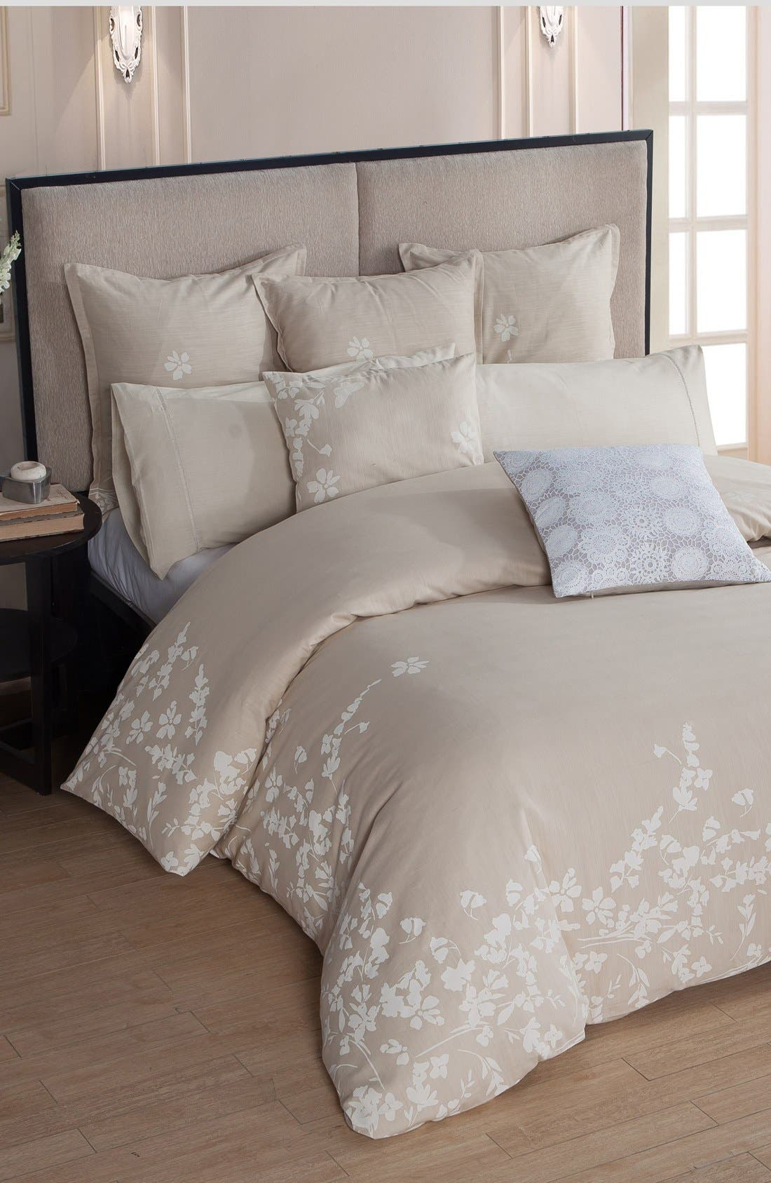 Laramie Duvet Cover & Sham Set,                             Main thumbnail 1, color,                             BEIGE
