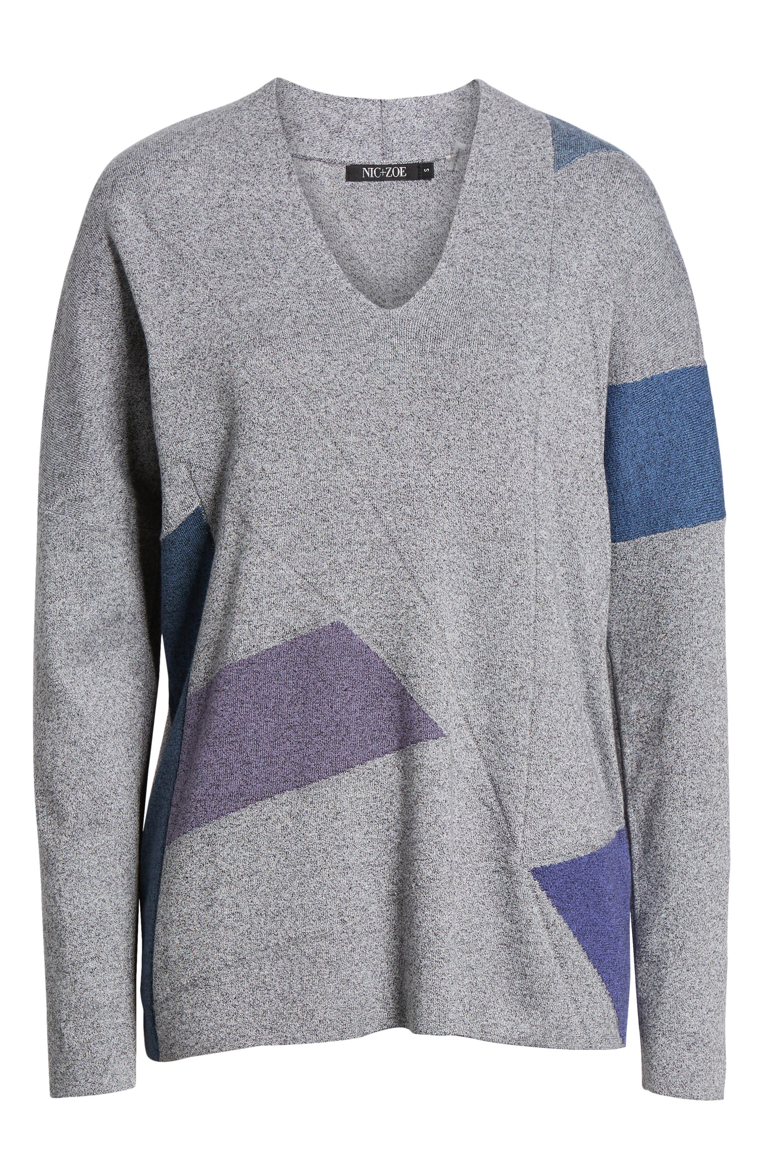 Colorblock Sweater,                             Alternate thumbnail 6, color,                             MULTI