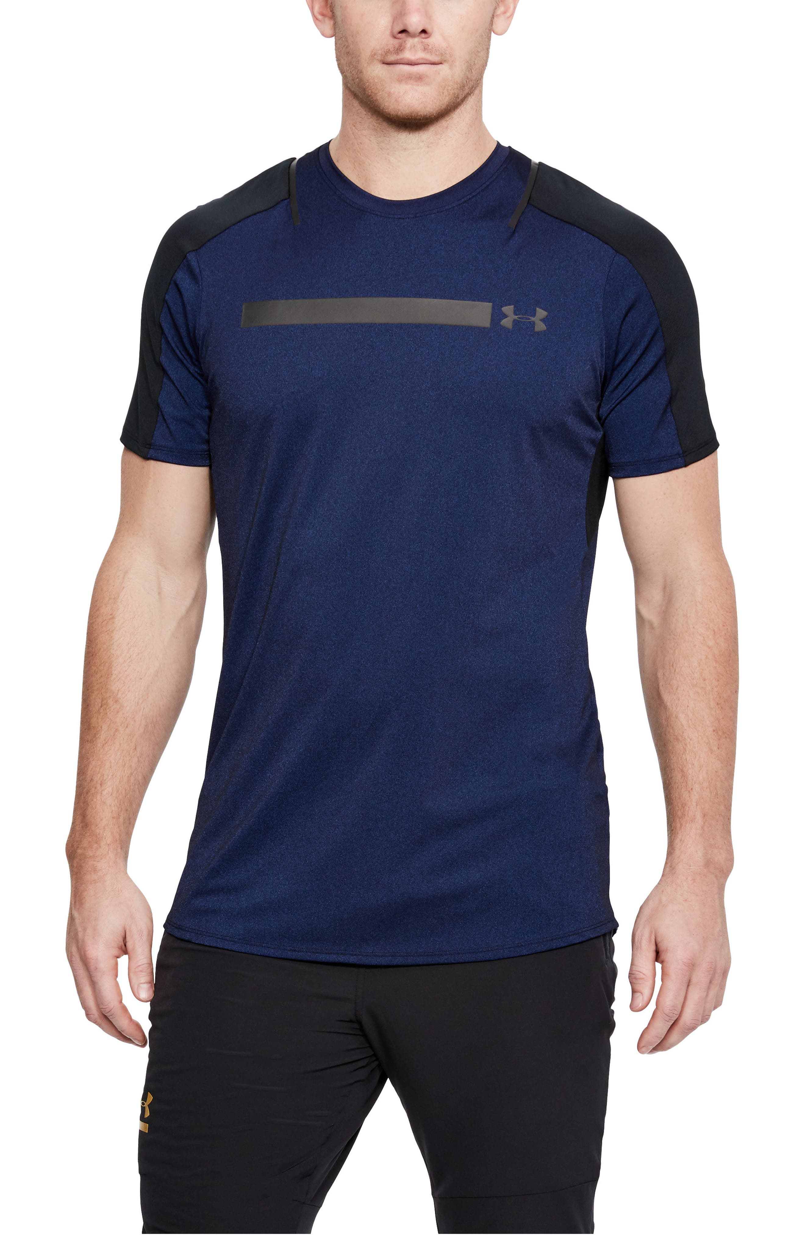 Perpetual Fitted Shirt,                             Main thumbnail 1, color,                             FORMATION BLUE/ BLACK