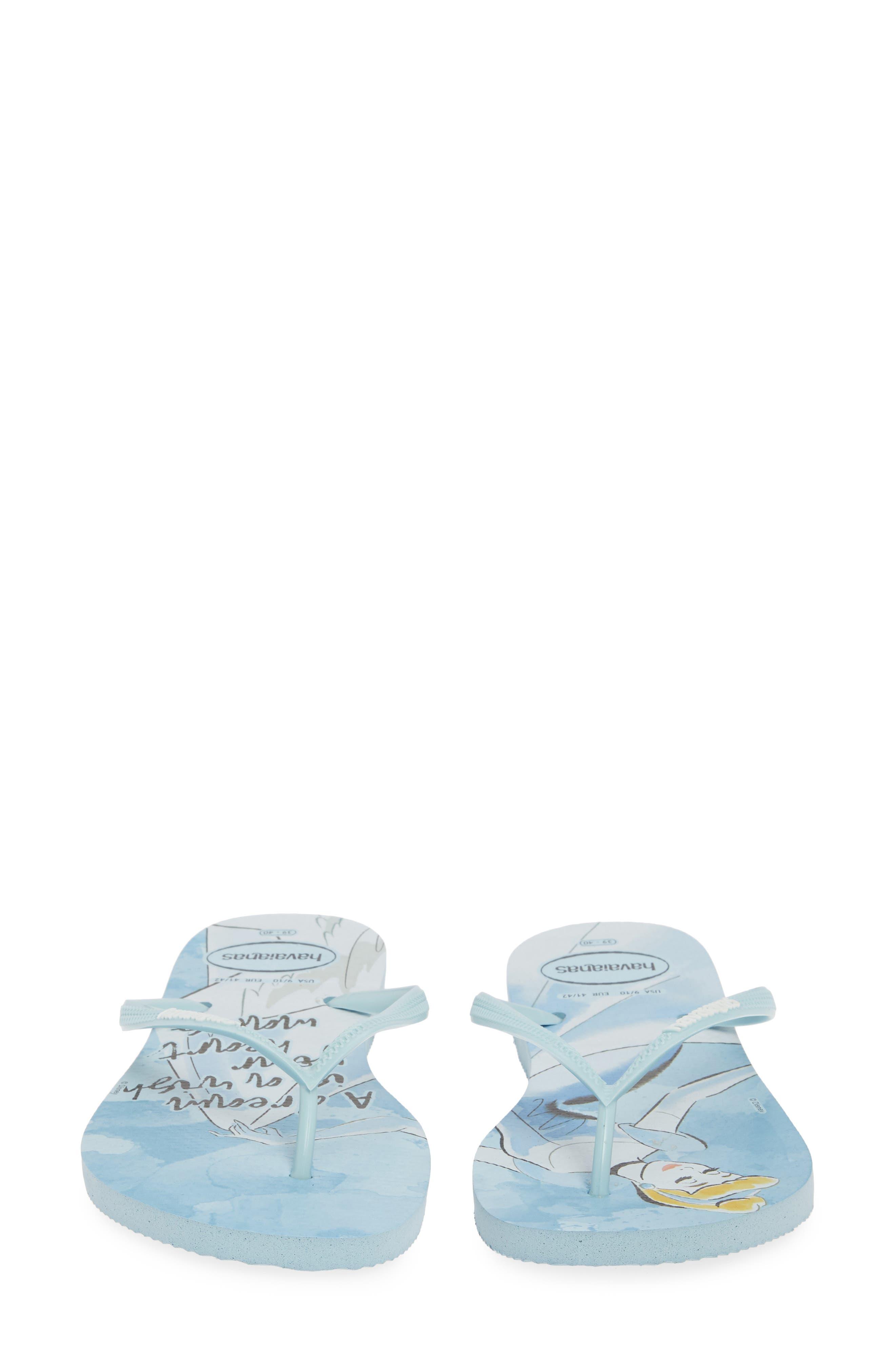 Havaiana Slim - Disney Princess Flip Flop,                             Alternate thumbnail 5, color,                             BLUE AQUA